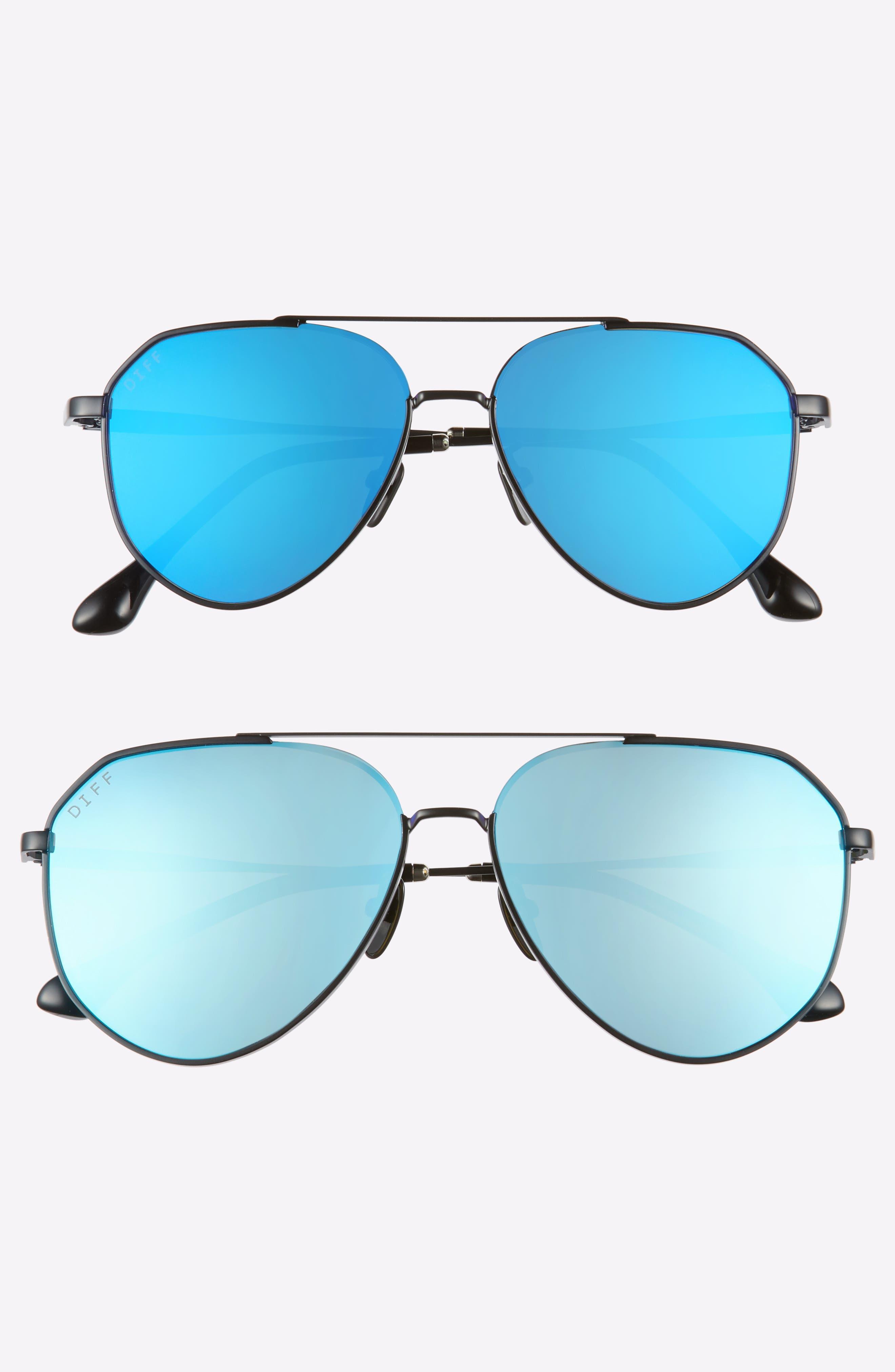 Mommy & Me Dash 2-Pack Aviator Sunglasses,                             Main thumbnail 1, color,                             Black/ Blue