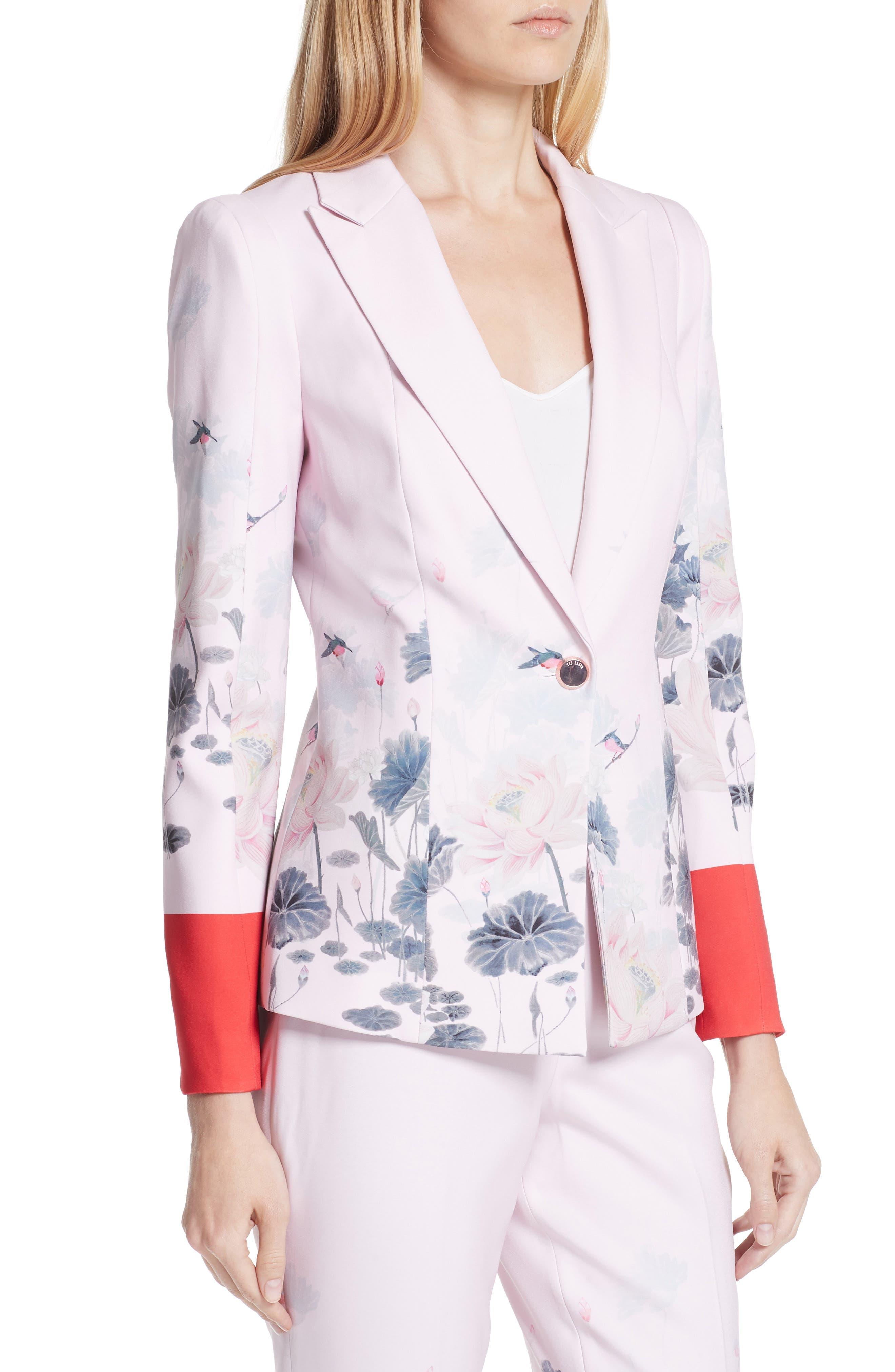 Naimh Lake of Dreams Tailored Jacket,                             Alternate thumbnail 4, color,                             Pink