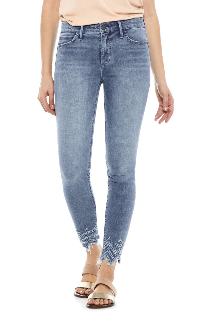 The Kitten Laser Hem Ankle Skinny Jeans