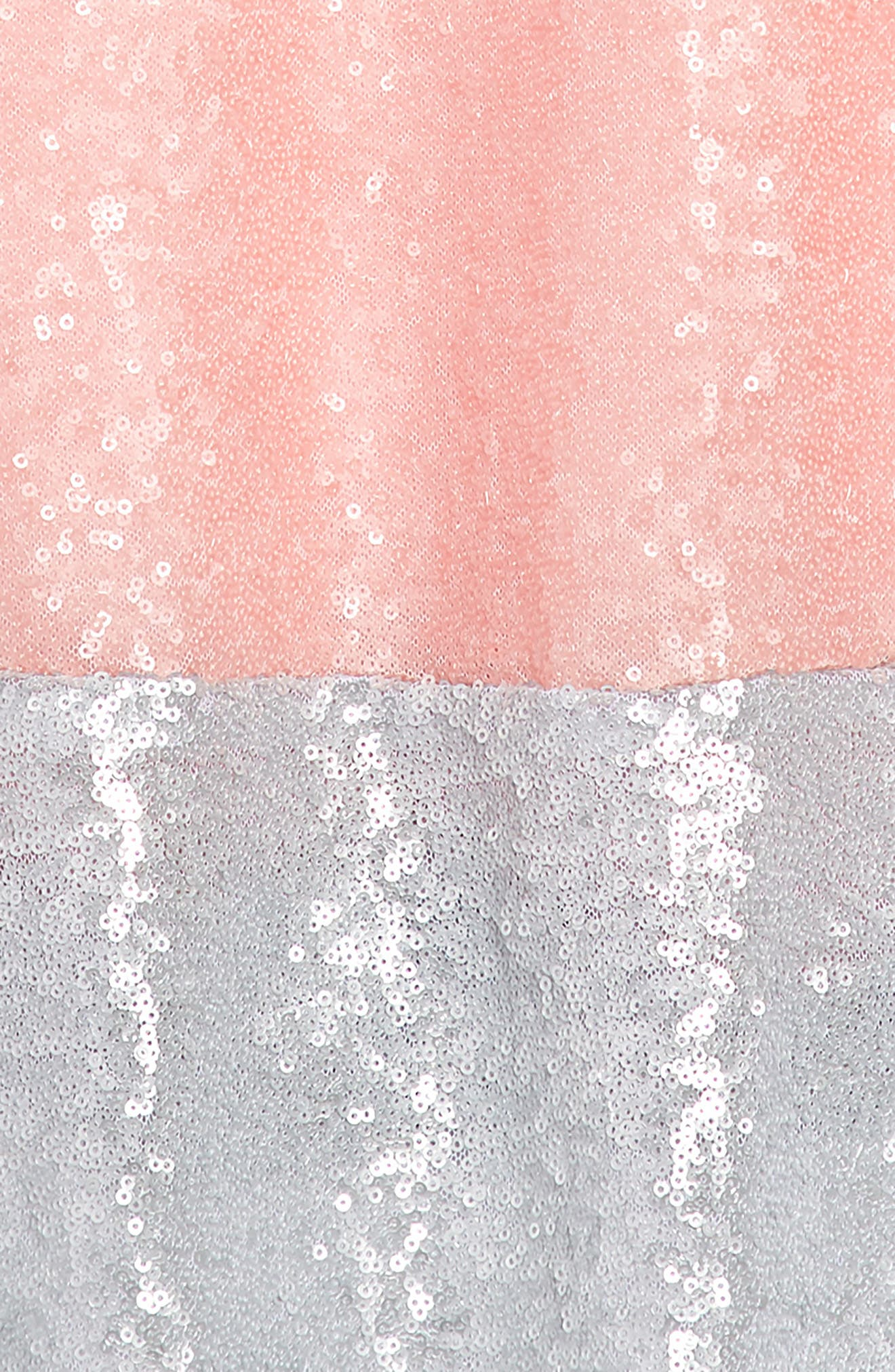 Sequin Shift Dress,                             Alternate thumbnail 3, color,                             Pink/ Silver