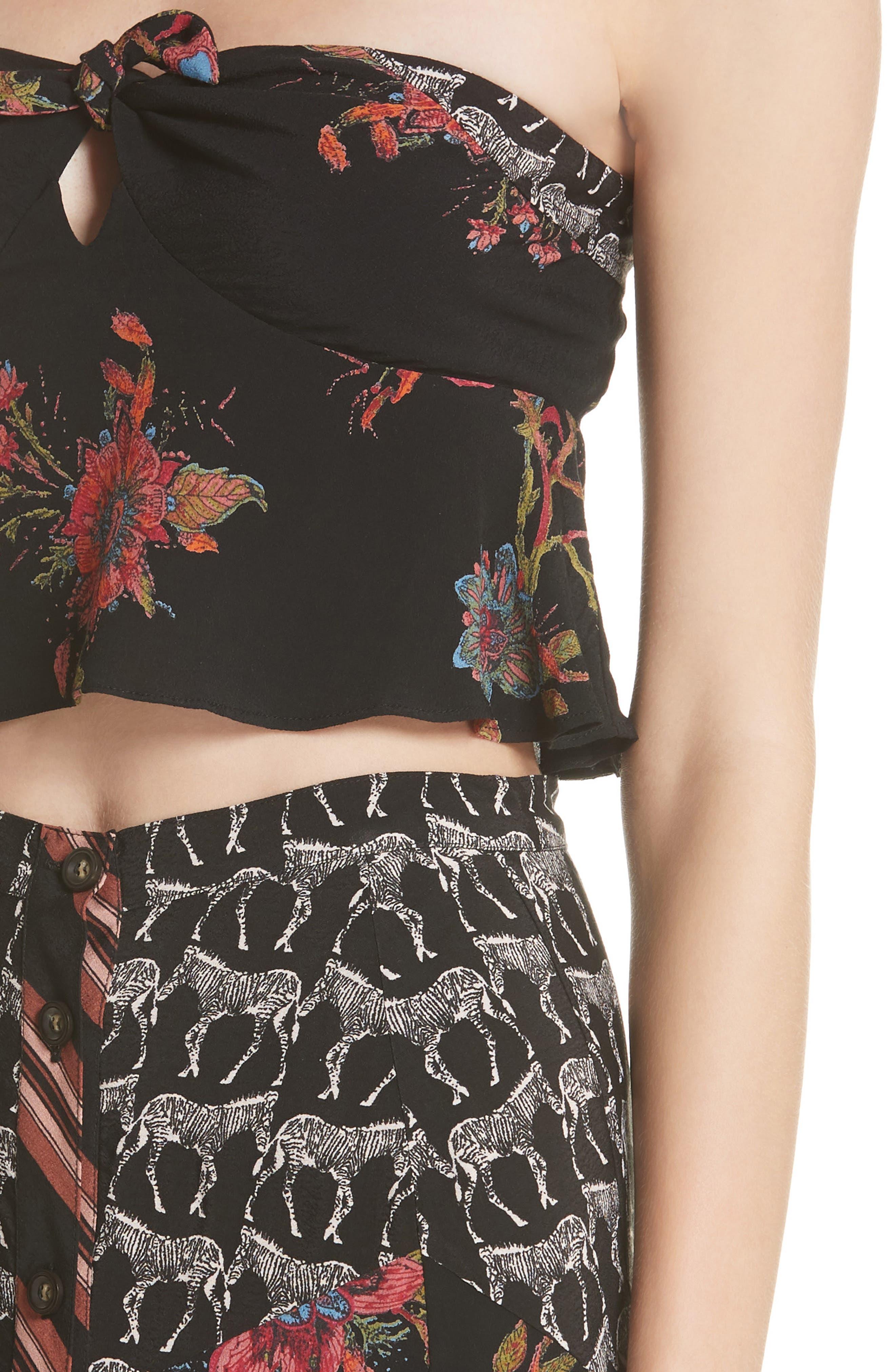 Sunshine Safari Top & Skirt,                             Alternate thumbnail 4, color,                             Black