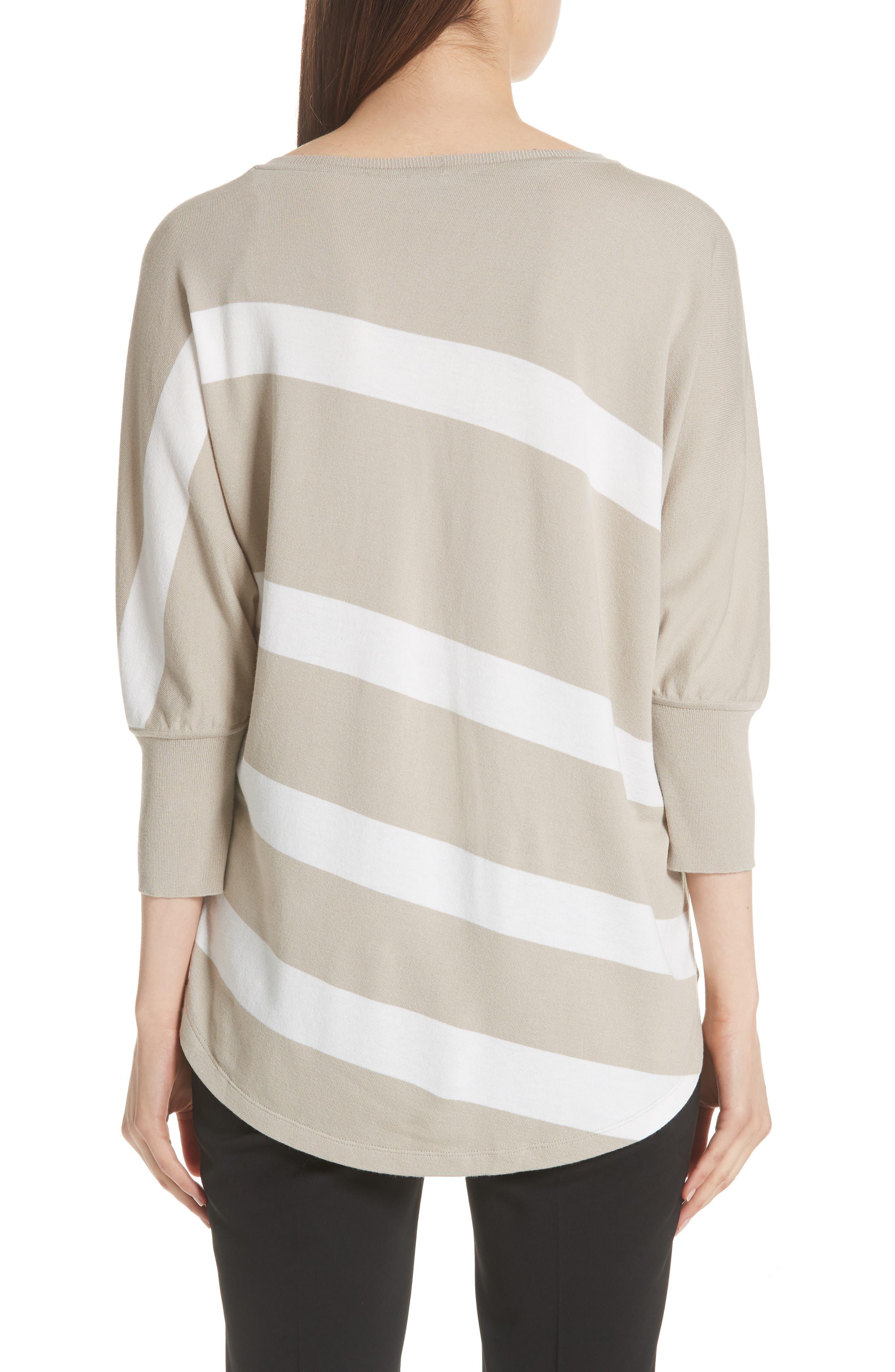 Stripe Sweater,                             Alternate thumbnail 2, color,                             Khaki/ Cloud
