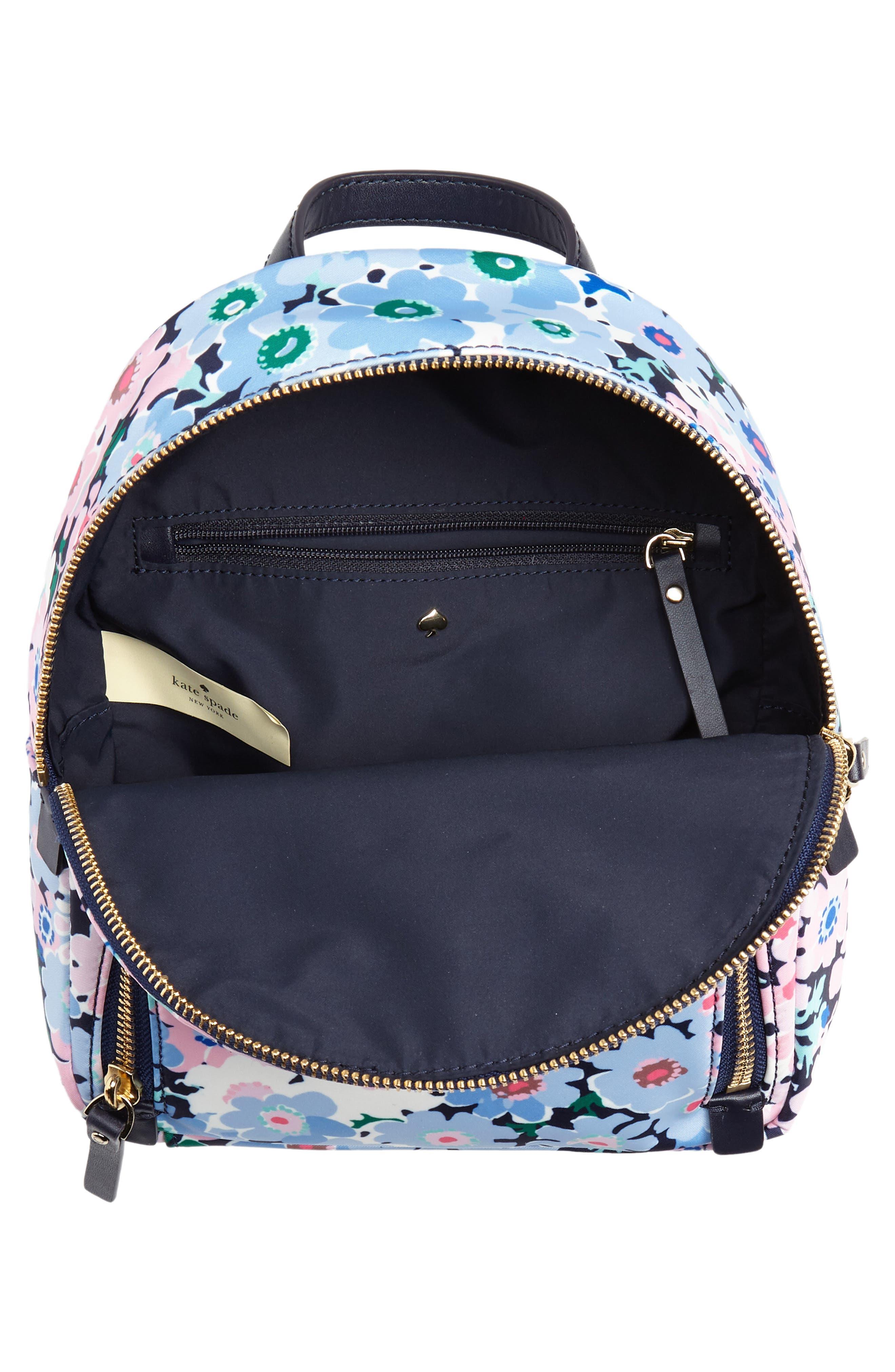 watson lane - daisy garden small hartley backpack,                             Alternate thumbnail 4, color,                             Blue Multi