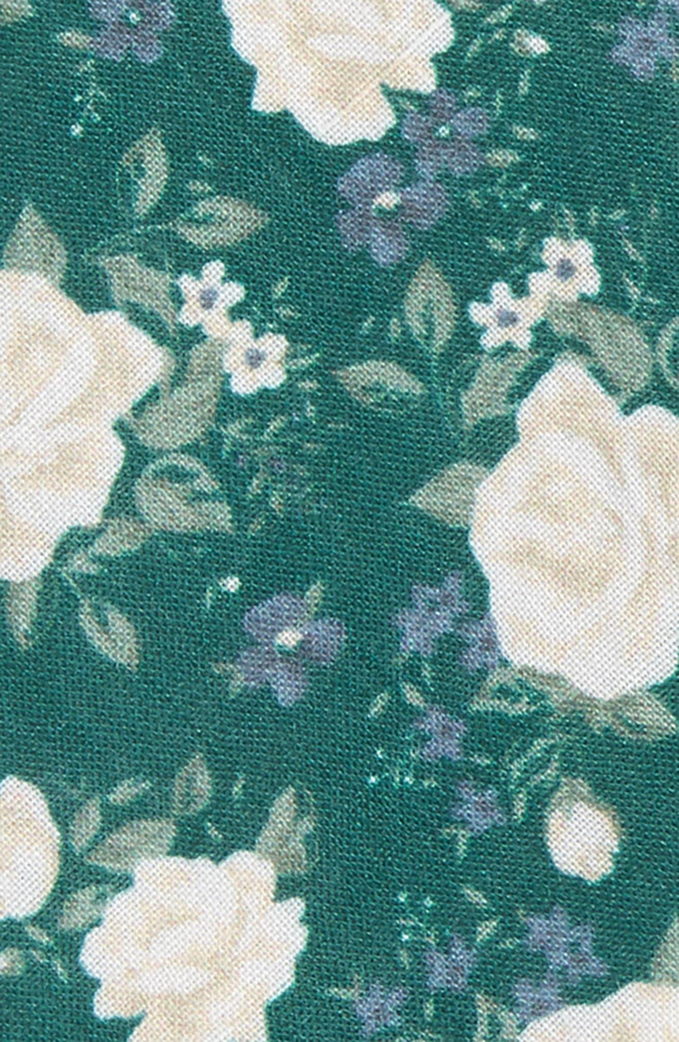 Hodgkiss Flowers Linen Bow Tie,                             Alternate thumbnail 2, color,                             Hunter Green