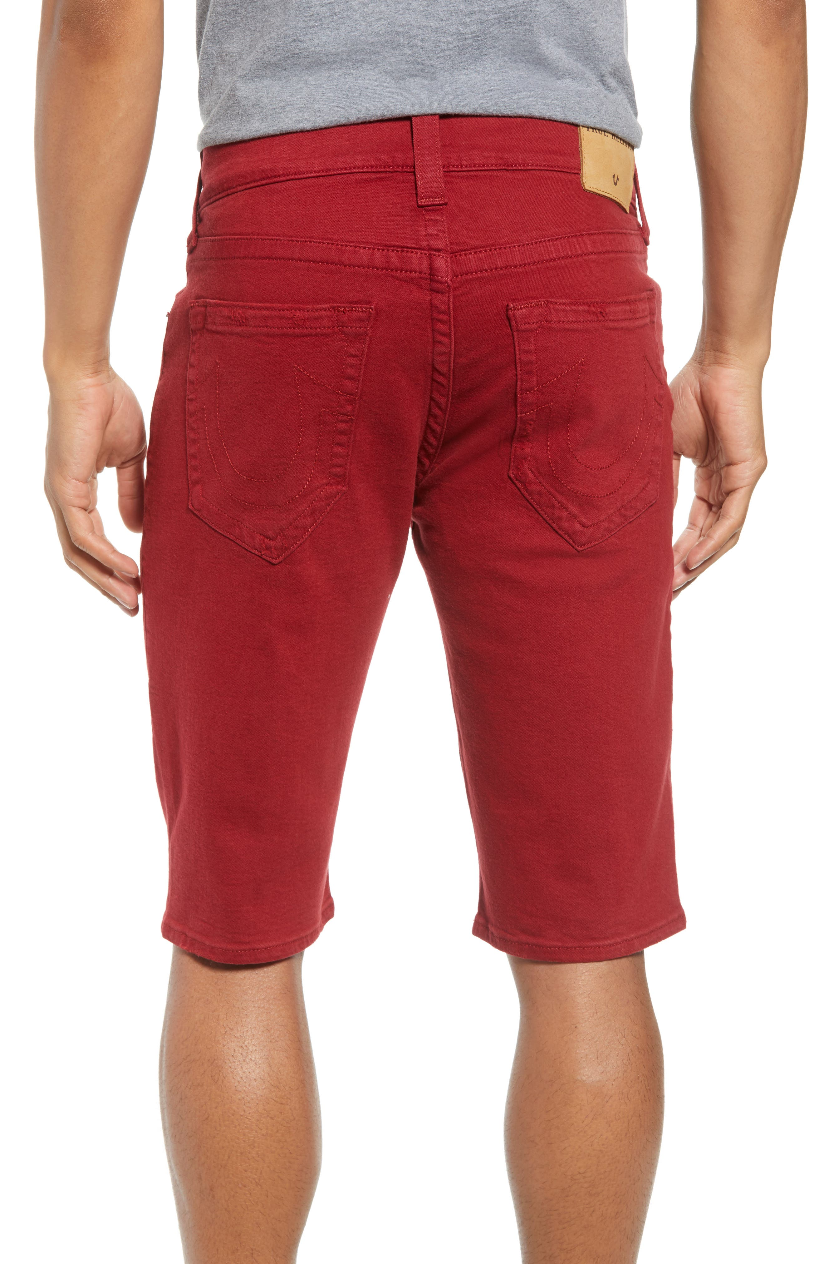 Ricky Relaxed Fit Shorts,                             Alternate thumbnail 2, color,                             Firecracker Red