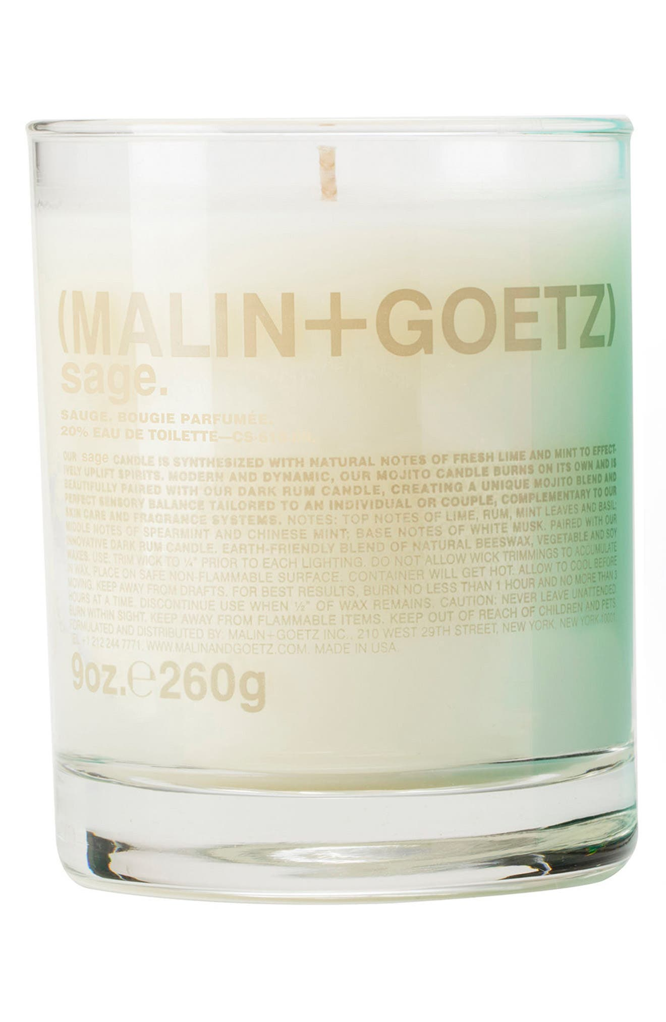 Malin + Goetz Candle,                             Main thumbnail 1, color,                             Sage