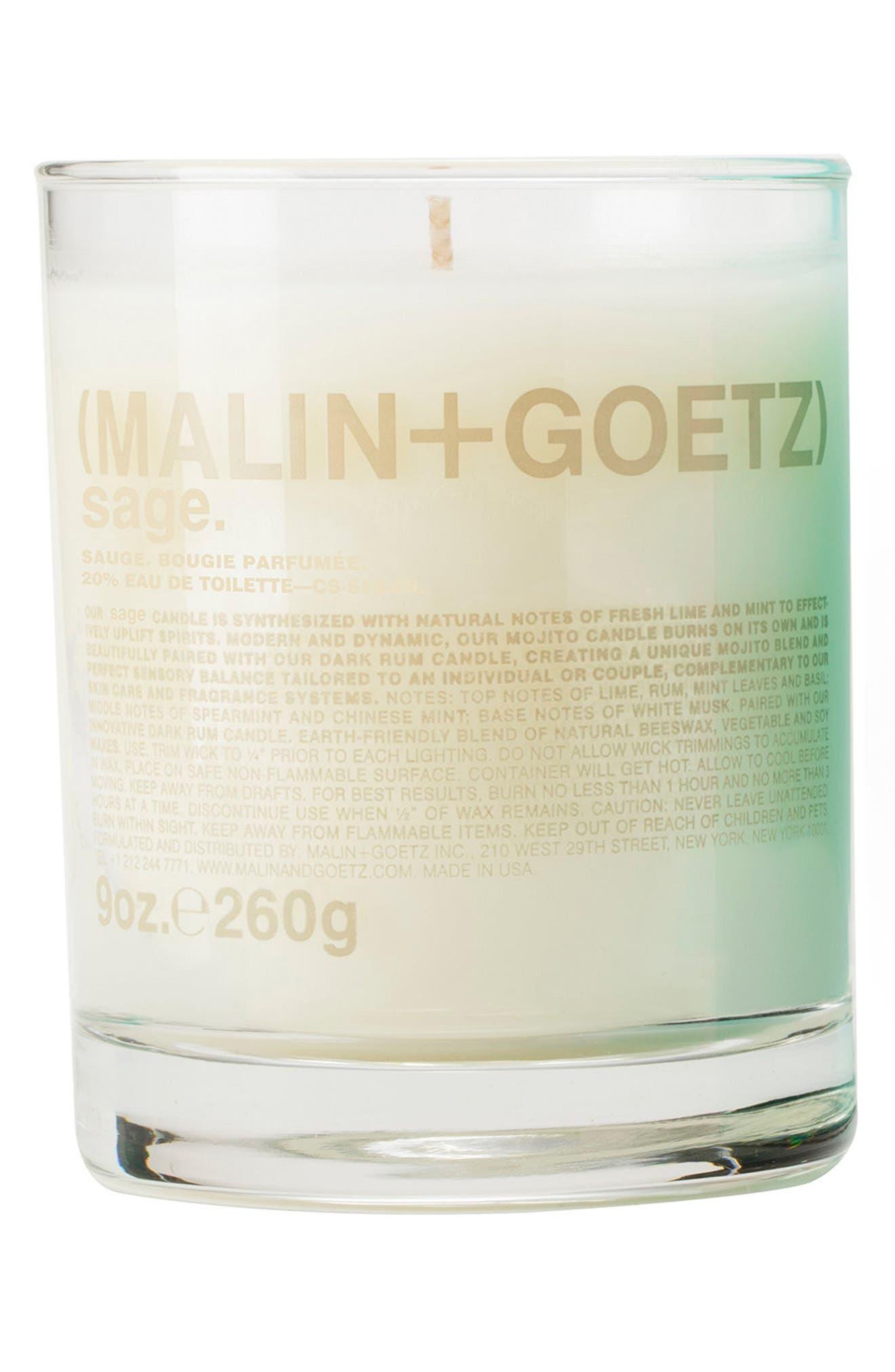 Malin + Goetz Candle,                         Main,                         color, Sage