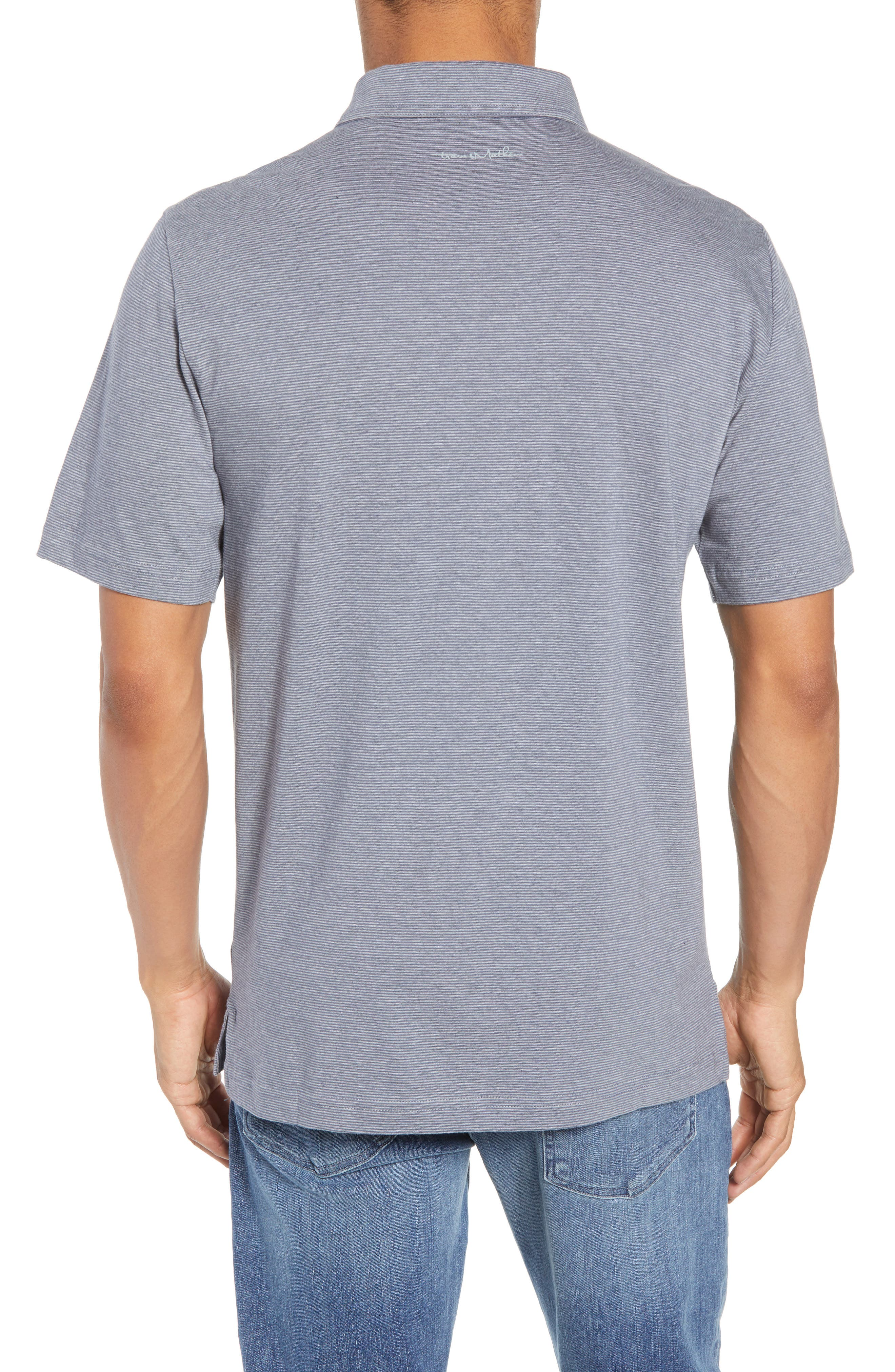 JQ Regular Fit Stripe Polo,                             Alternate thumbnail 2, color,                             Heather Grisaille