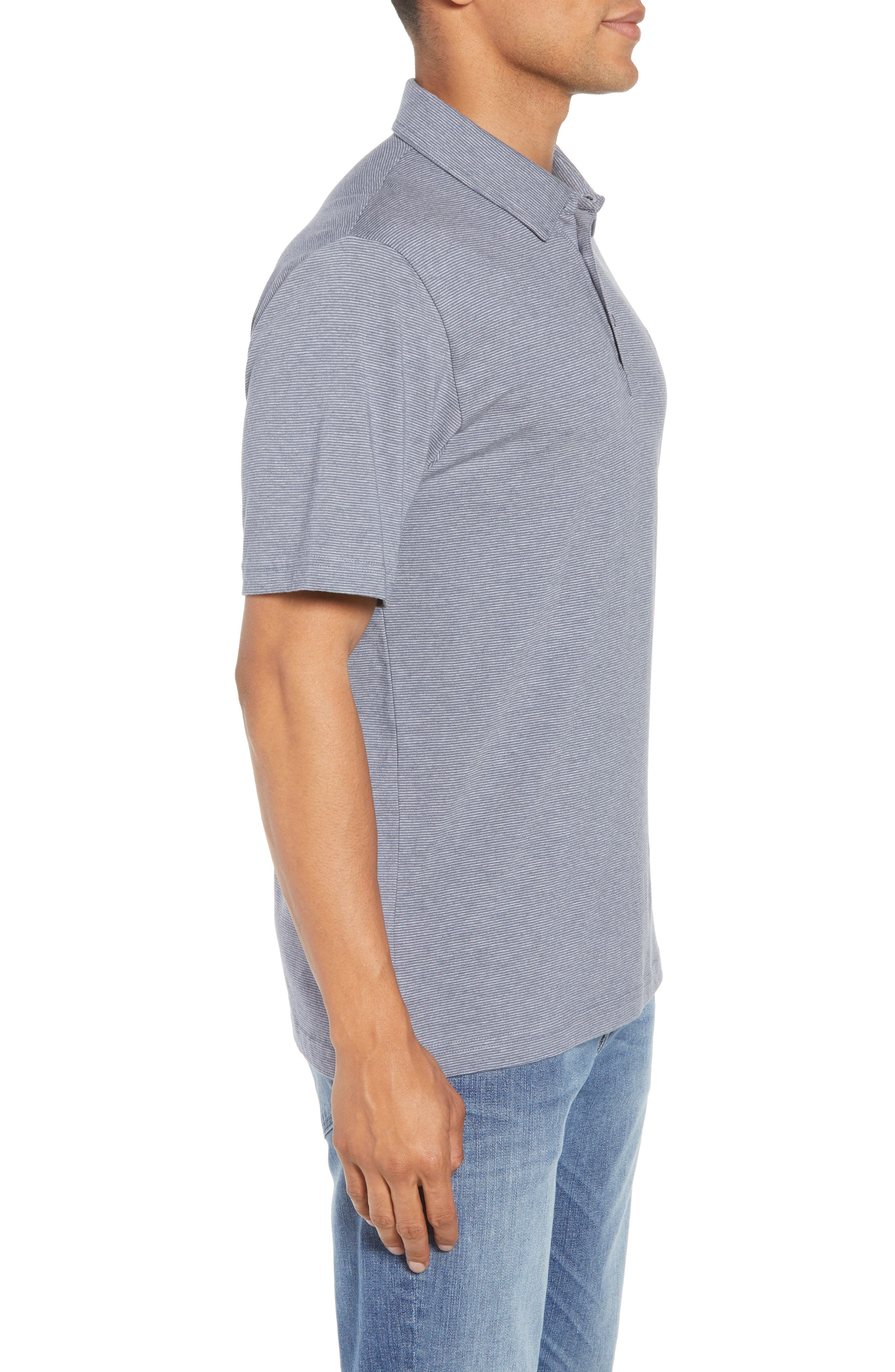 JQ Regular Fit Stripe Polo,                             Alternate thumbnail 3, color,                             Heather Grisaille