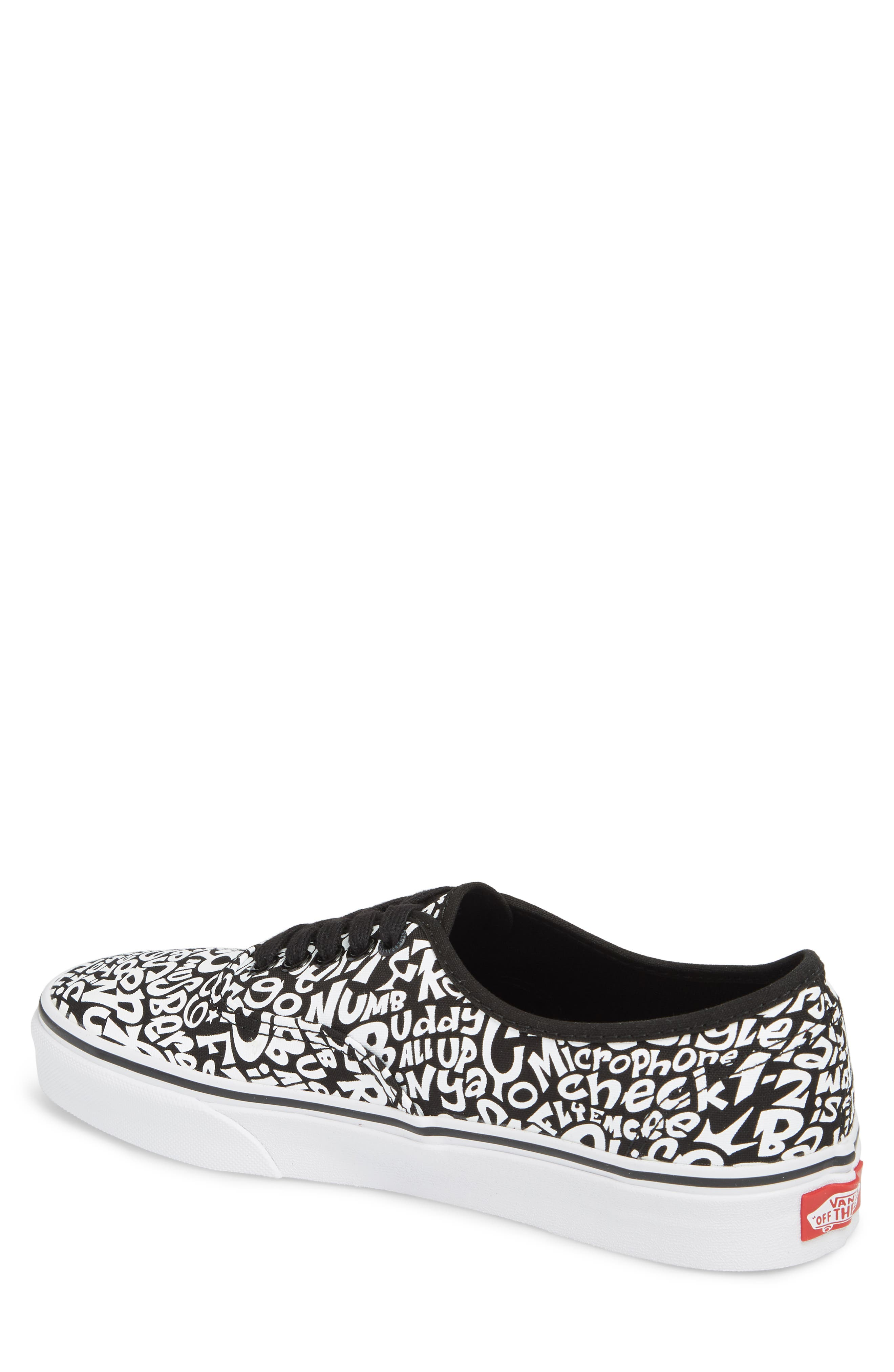 x A Tribe Called Quest UA Authentic Sneaker,                             Alternate thumbnail 2, color,                             Tracklist/ True White
