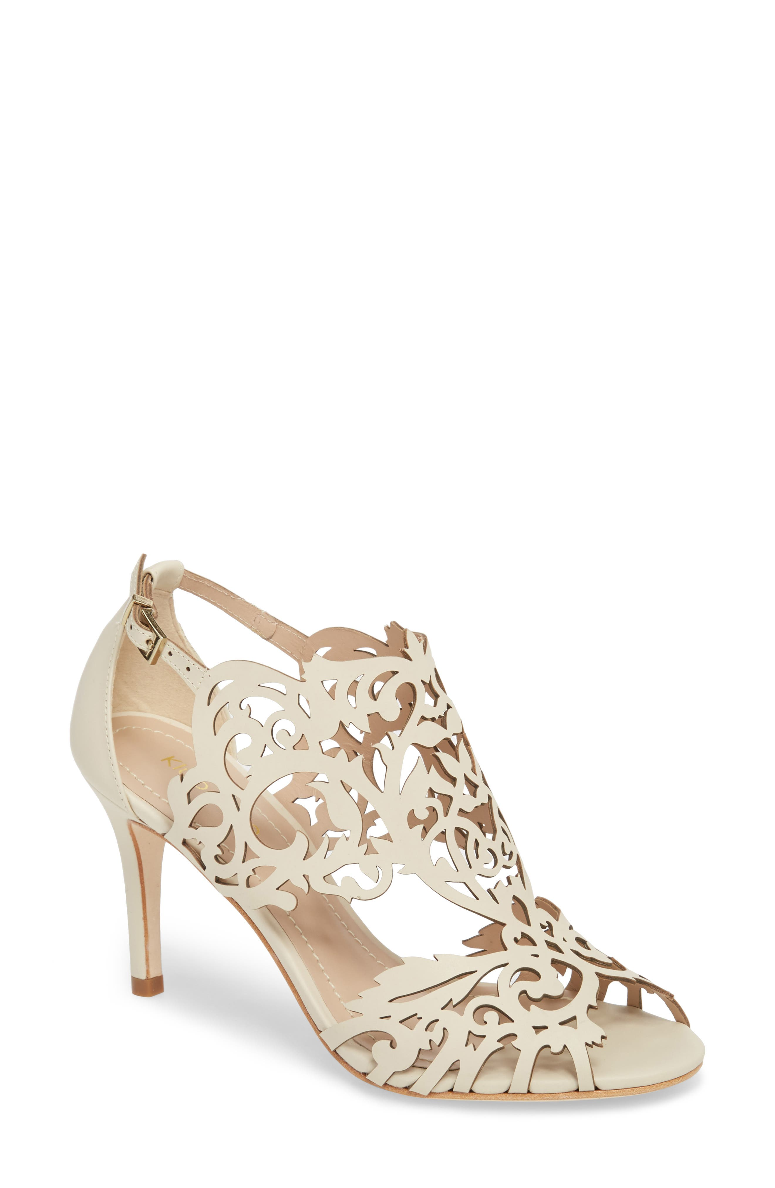Marcela 3 Laser Cutout Sandal,                         Main,                         color, Ivory Leather