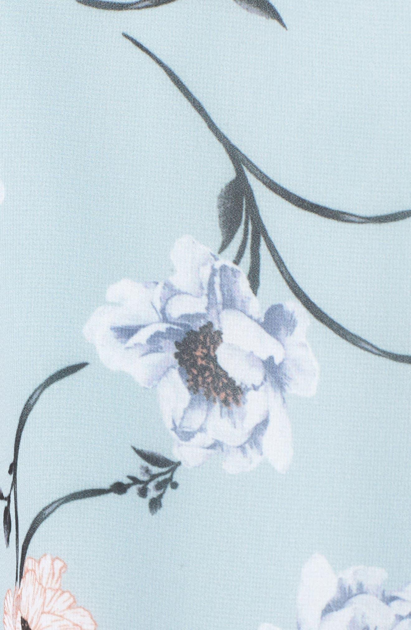 Flutter Sleeve Minidress,                             Alternate thumbnail 6, color,                             Chambray