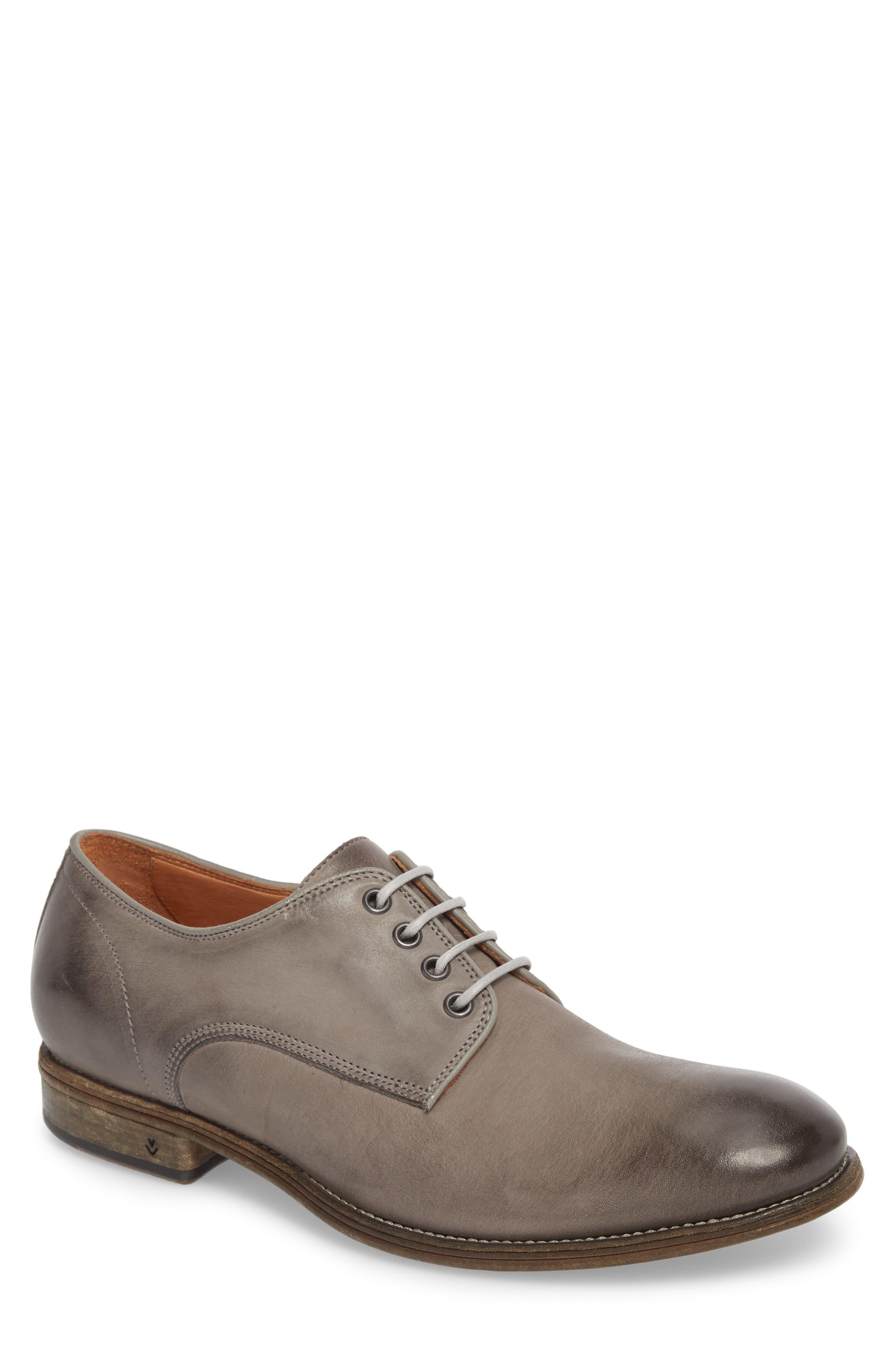 John Varvatos Stanton Plain Toe Derby,                         Main,                         color, Ash Leather