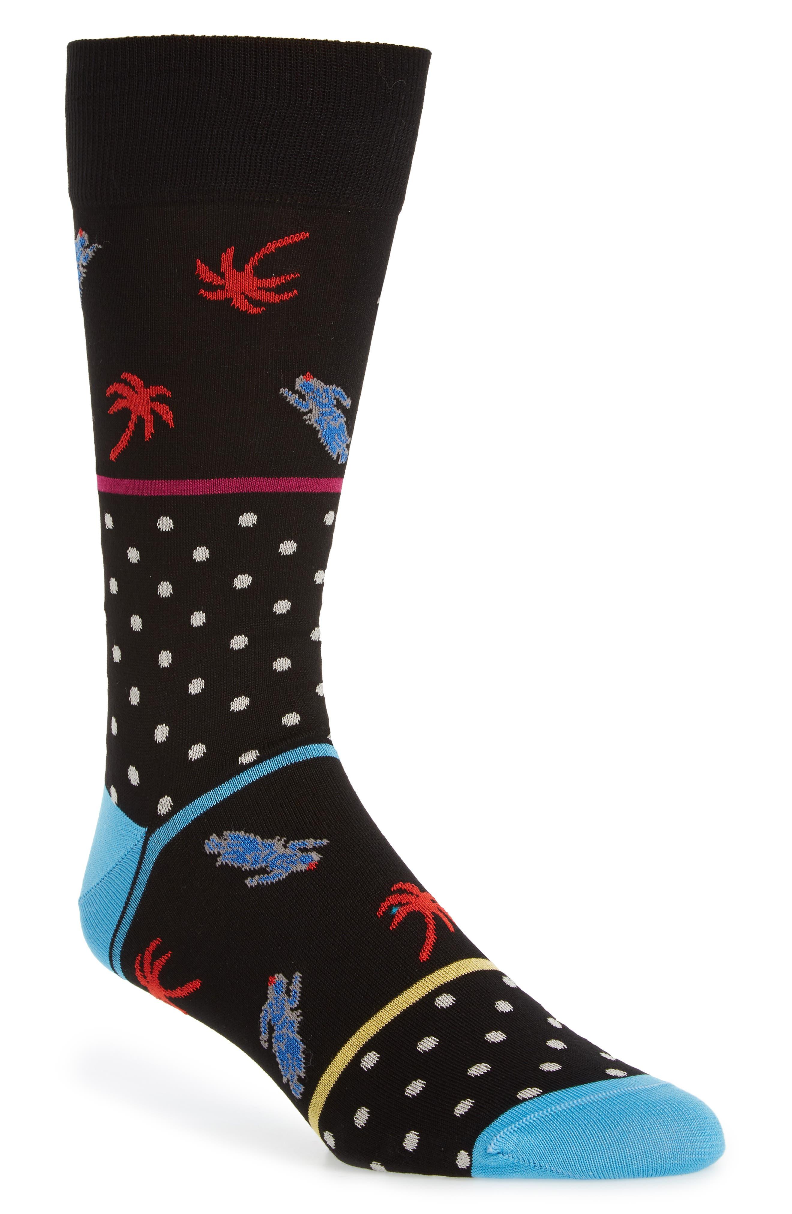 Dot Socks,                             Main thumbnail 1, color,                             Black