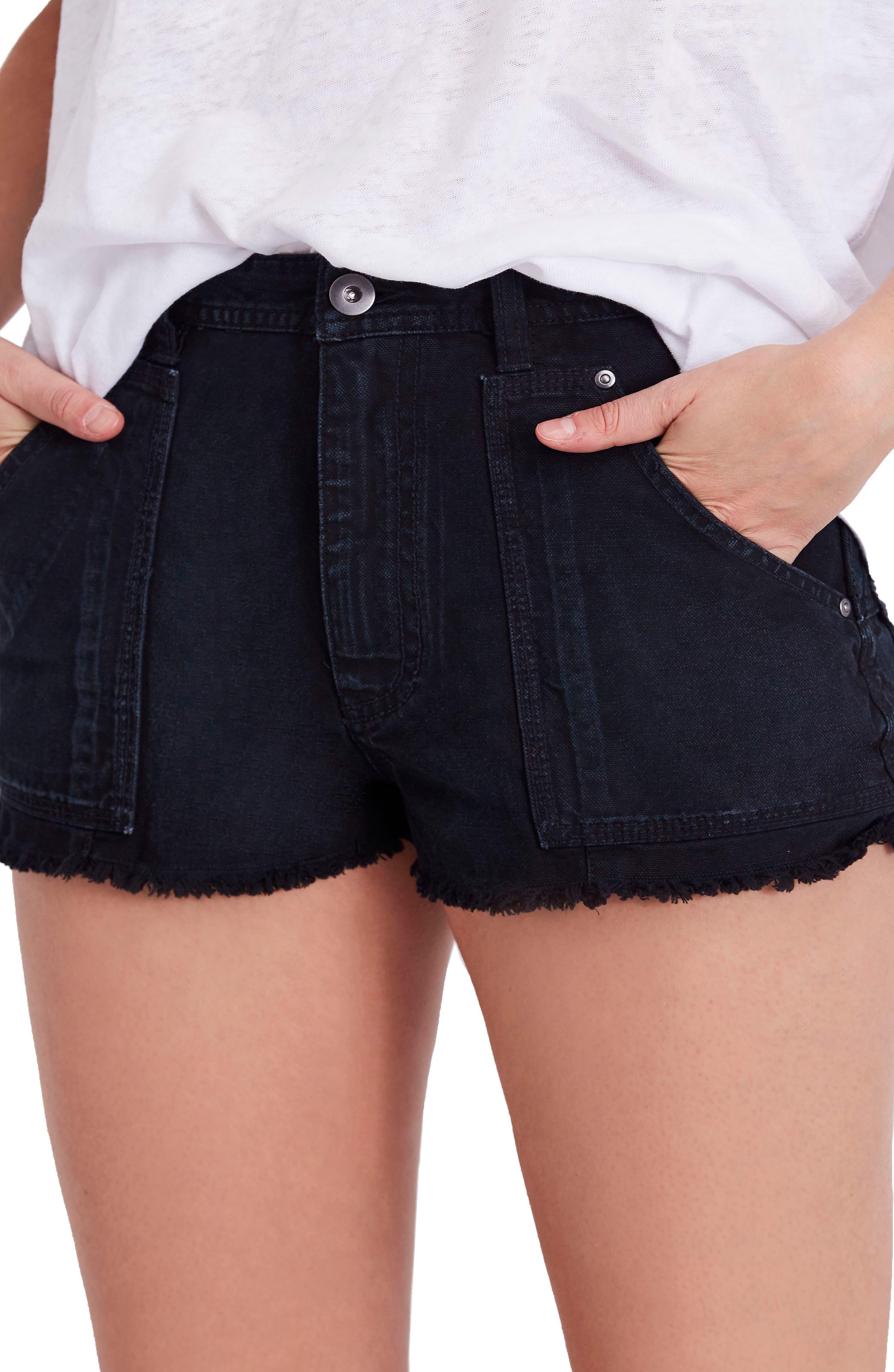Get Far Out Cutoff Shorts,                         Main,                         color, Black