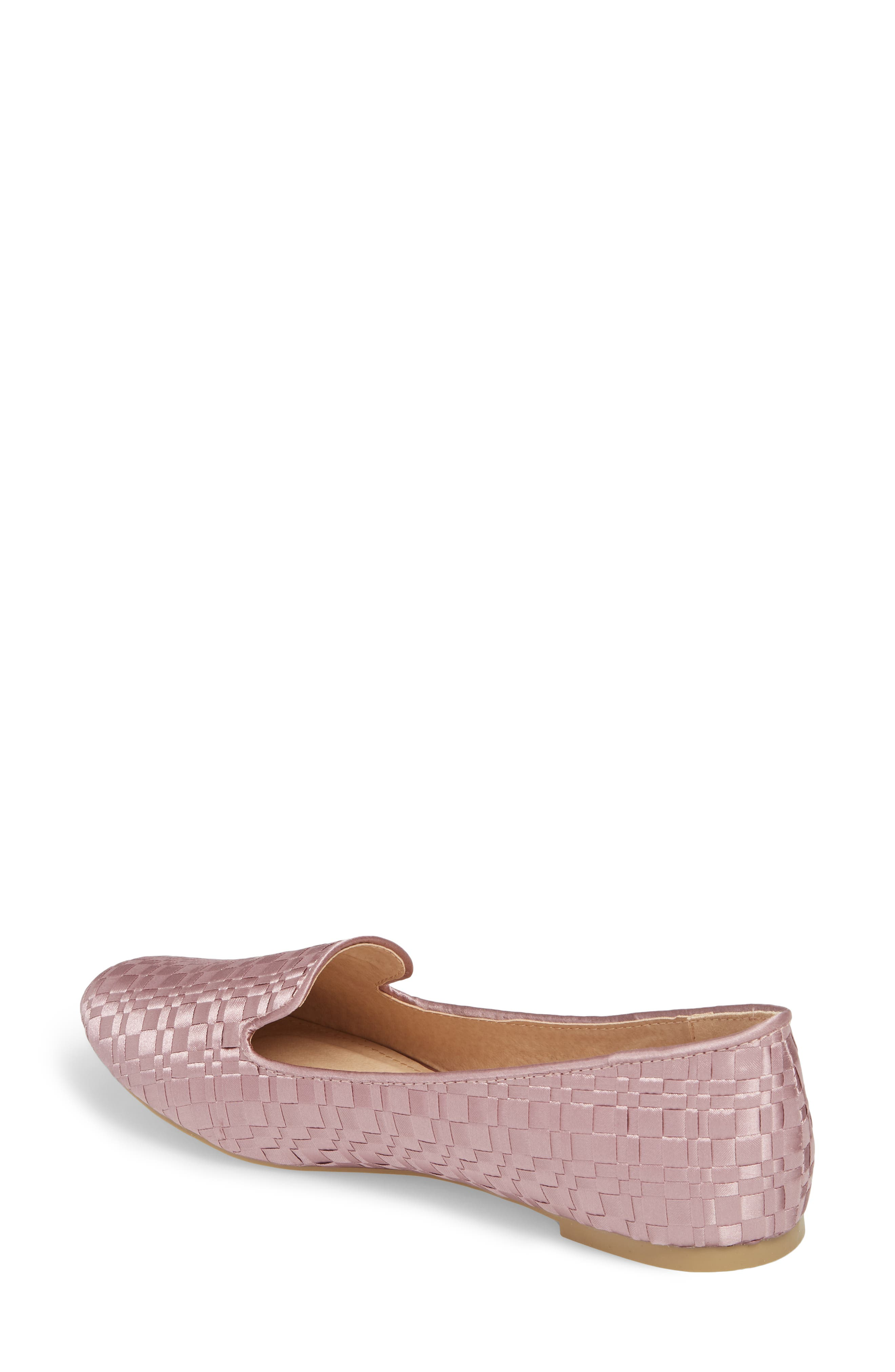 Sasha Textured Woven Loafer,                             Alternate thumbnail 2, color,                             Pink