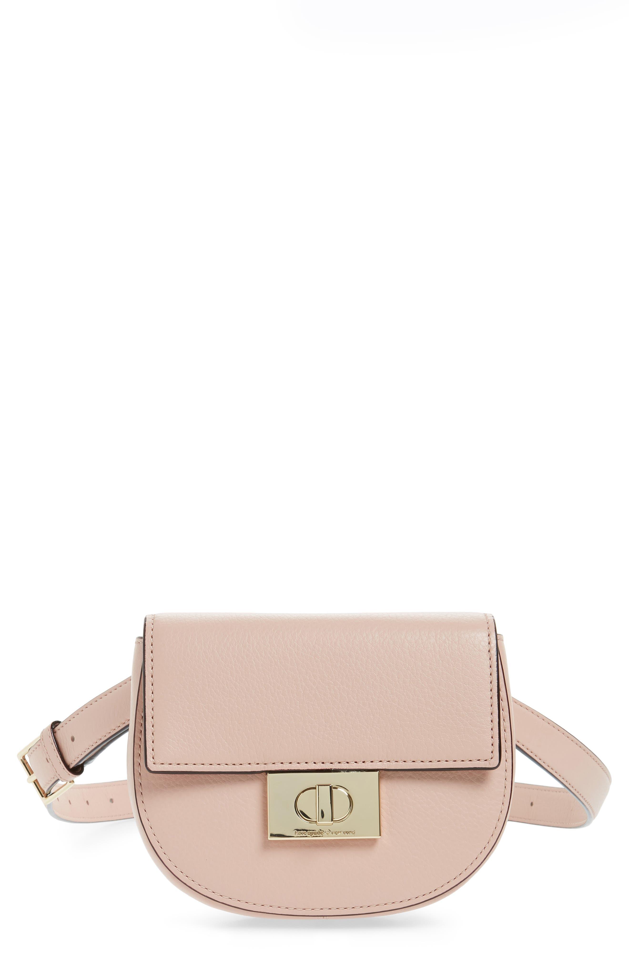 greenwood place rita leather belt bag,                             Main thumbnail 1, color,                             Warm Vellum