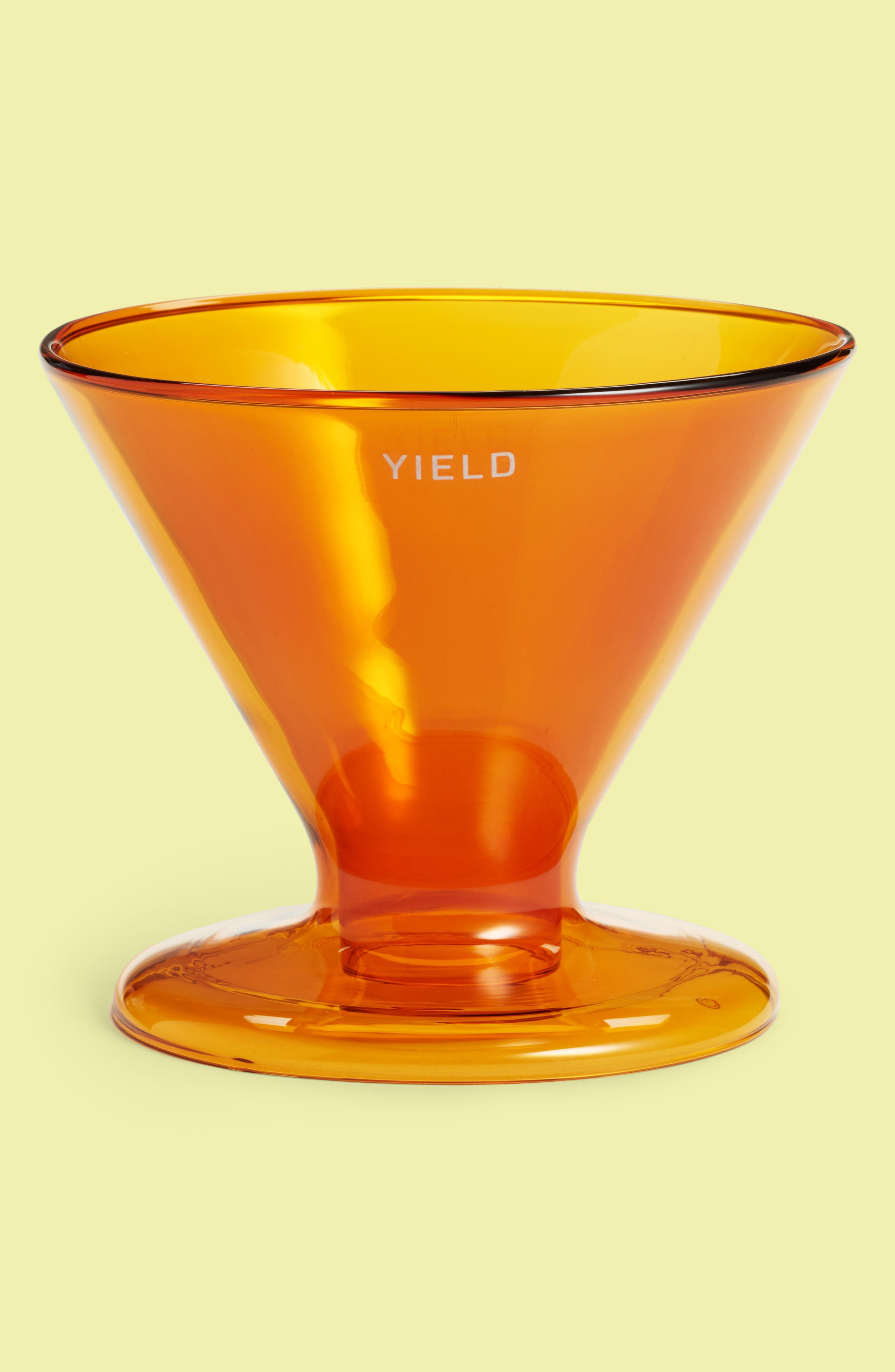 Double Wall Pour Over Coffee Maker,                         Main,                         color, Amber