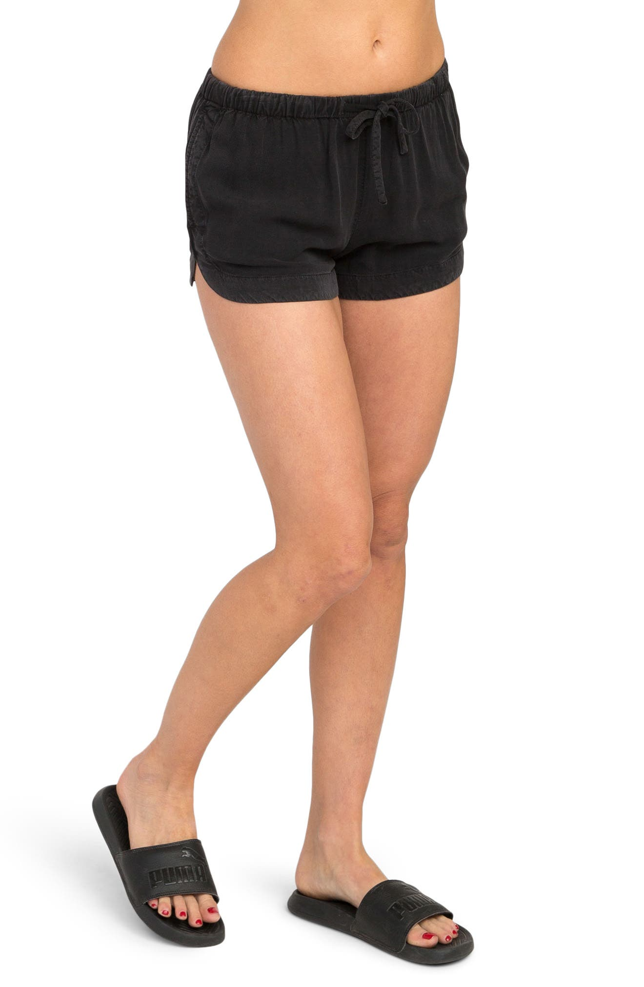 New Yume Dolphin Shorts,                         Main,                         color, Black