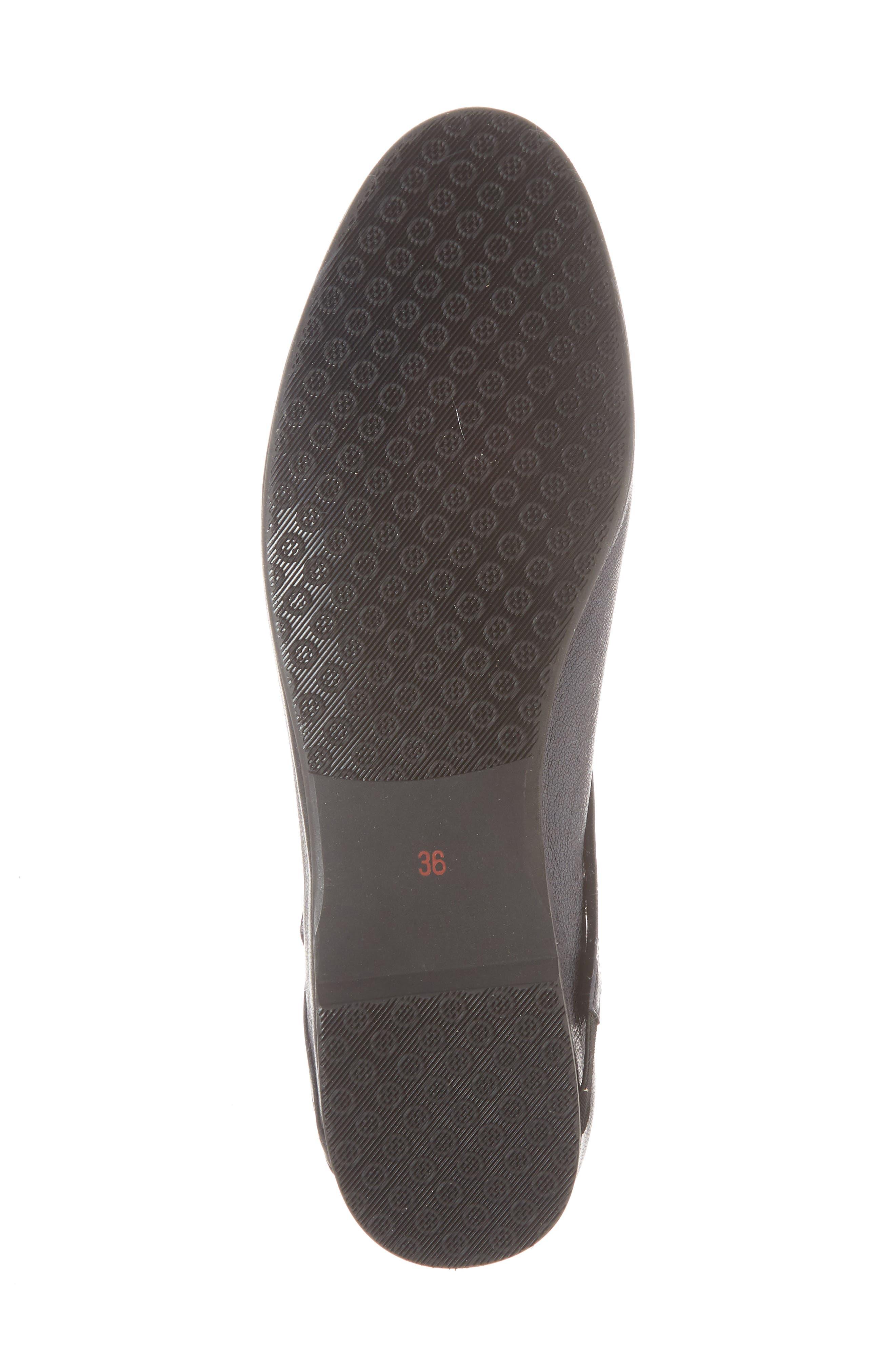 Dafne Flat,                             Alternate thumbnail 6, color,                             Black Leather
