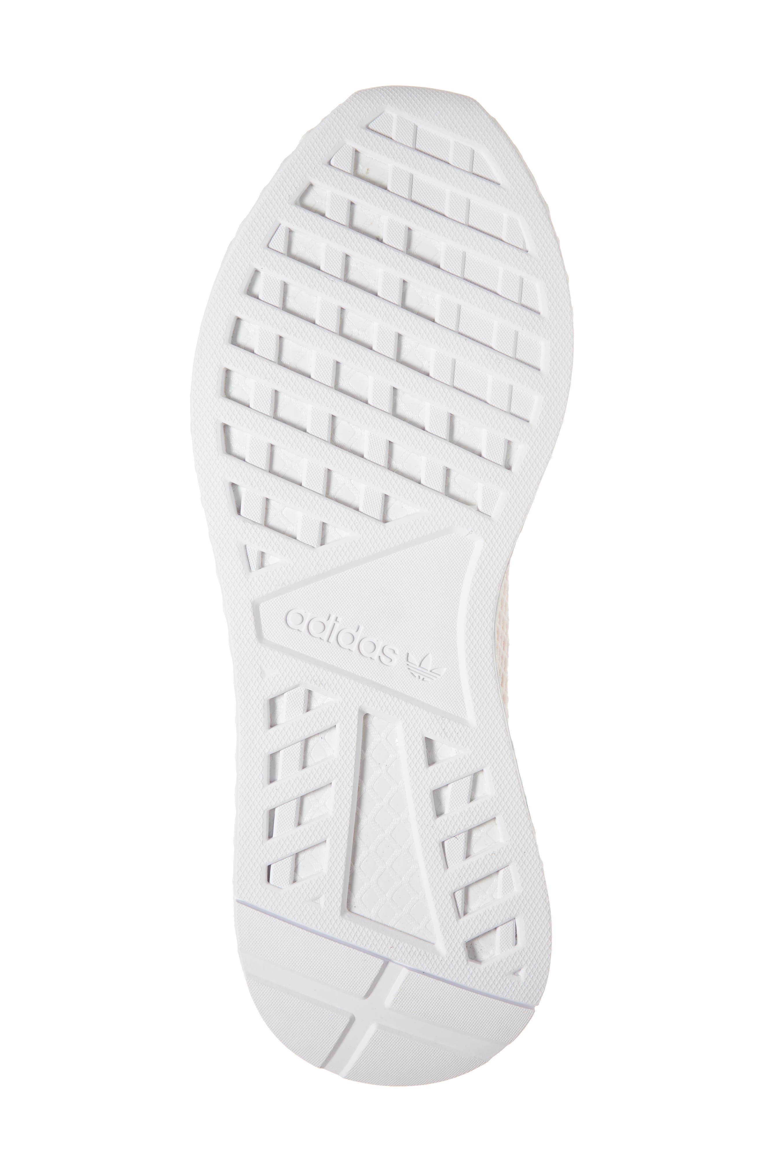 Deerupt Runner Sneaker,                             Alternate thumbnail 6, color,                             Black/ Black/ White