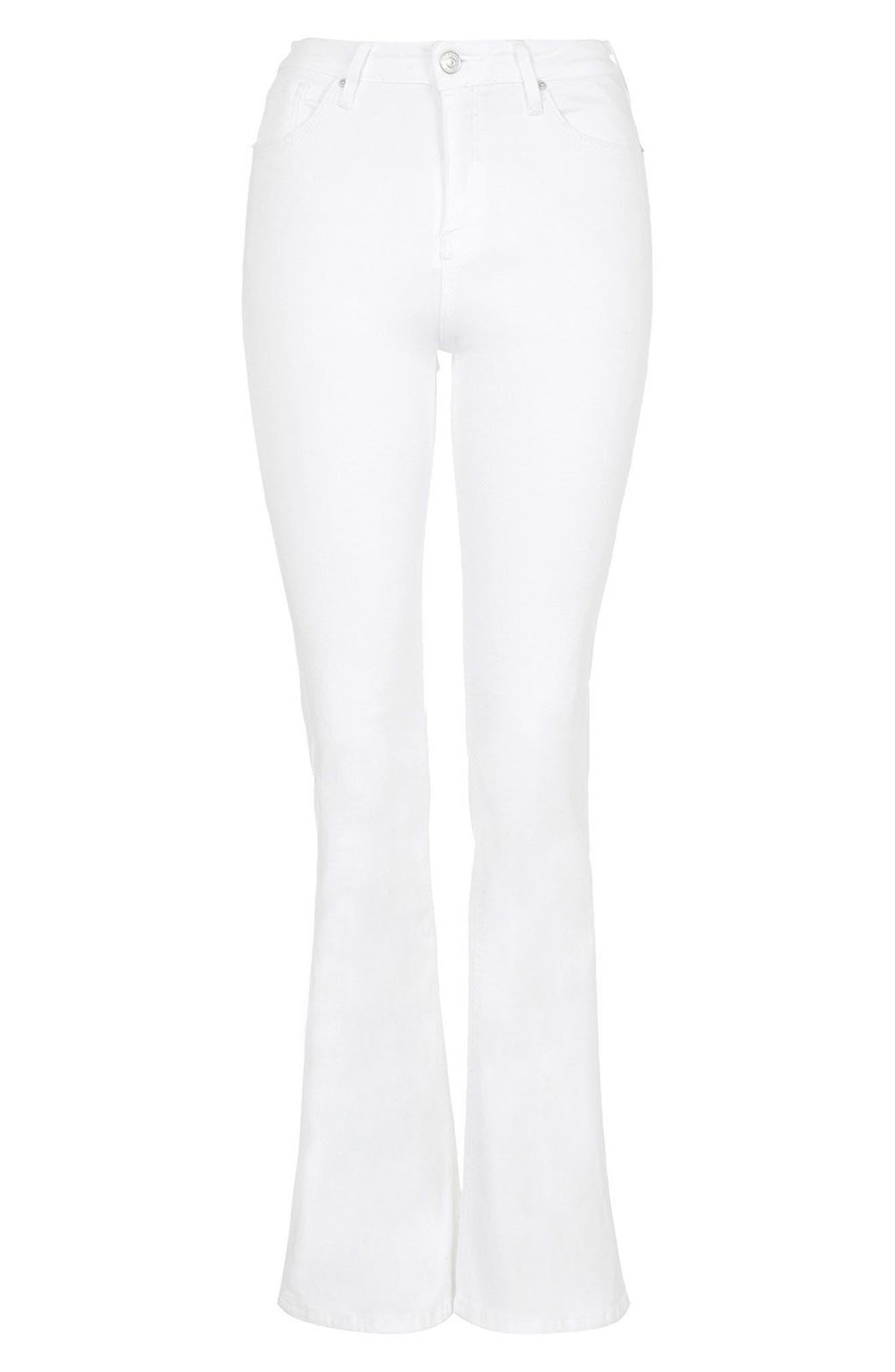 Jamie Flare Jeans,                             Alternate thumbnail 6, color,                             White