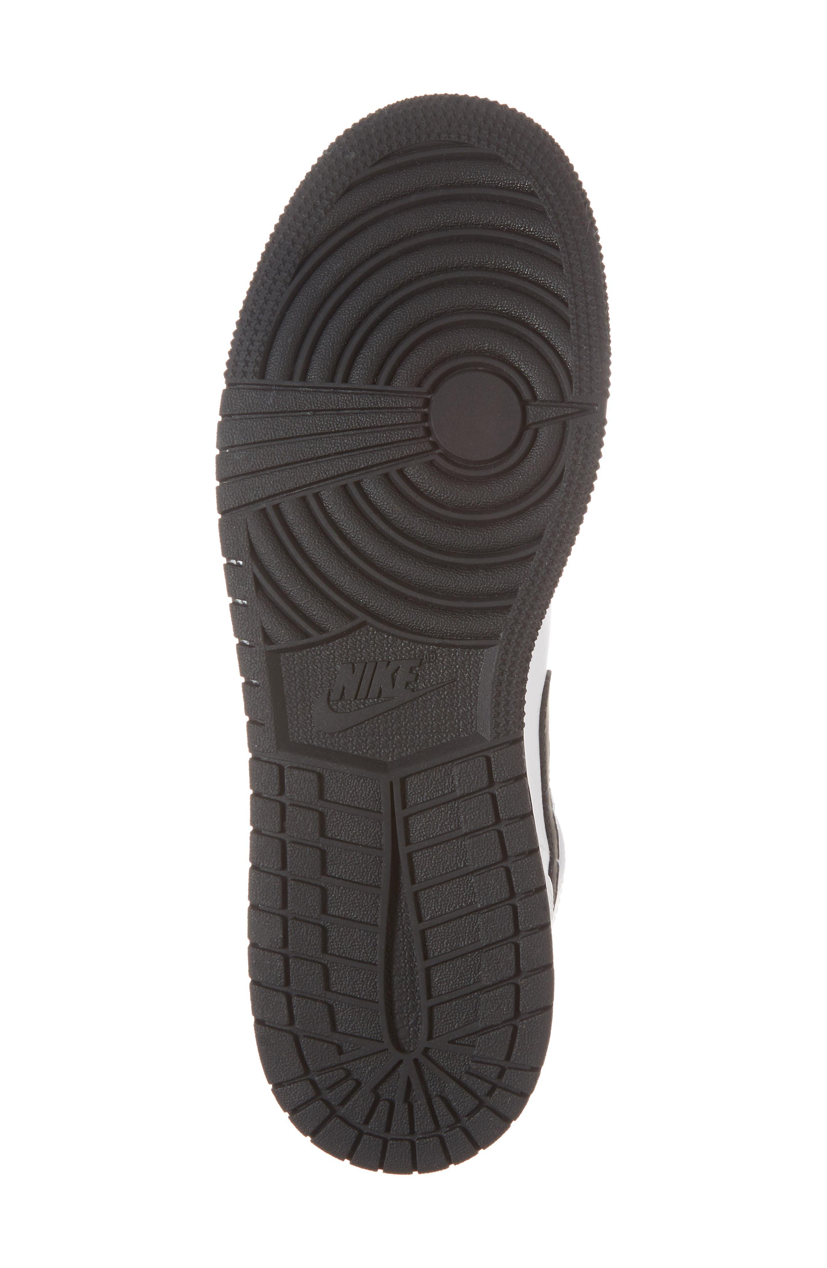 Nike 'Air Jordan 1 Mid' Sneaker,                             Alternate thumbnail 6, color,                             White/ Fuchsia Blast/ Black