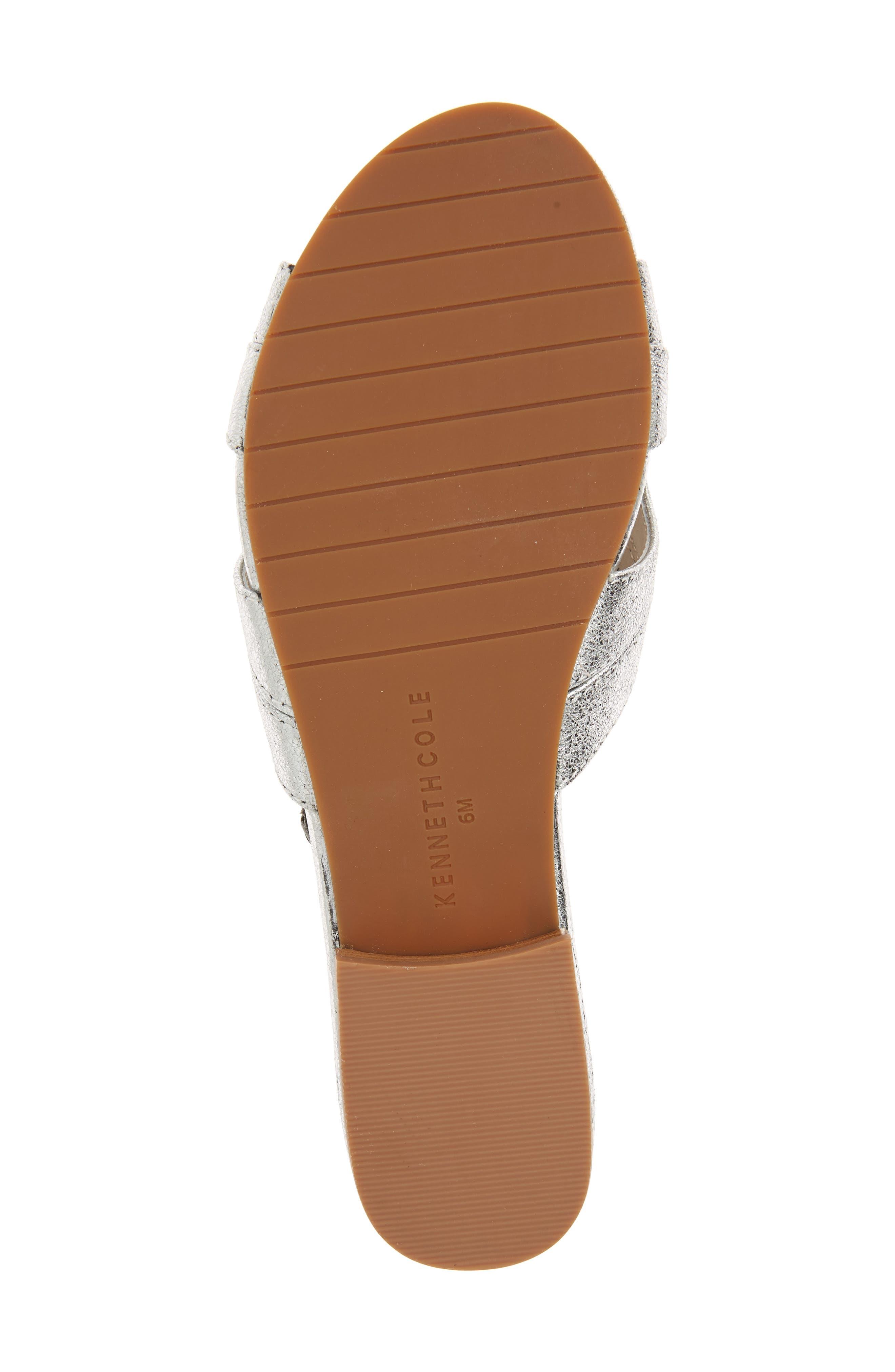 Viveca Slide Sandal,                             Alternate thumbnail 6, color,                             Silver Leather