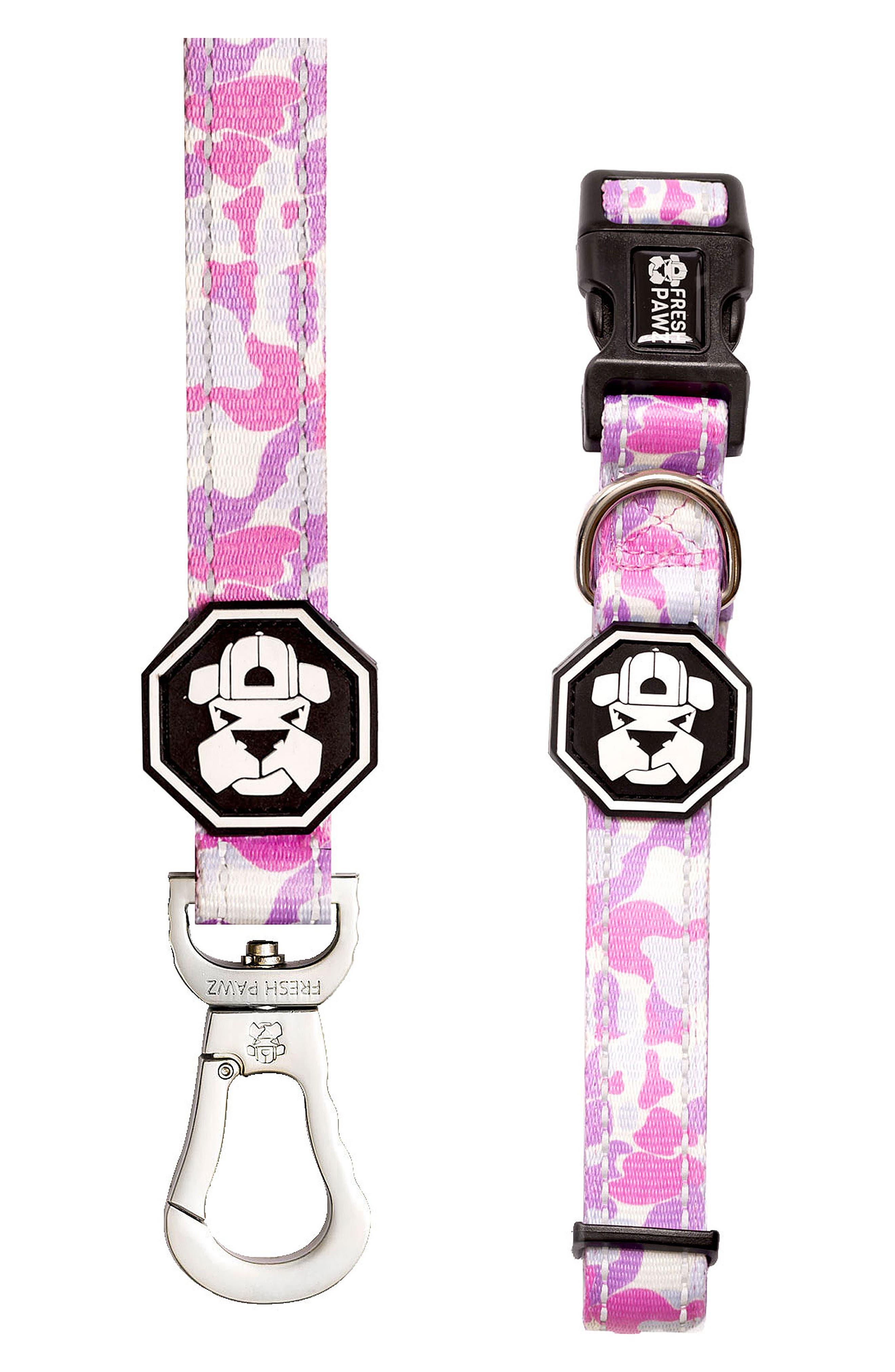 Leash and Collar Set,                         Main,                         color, Pastel Camo