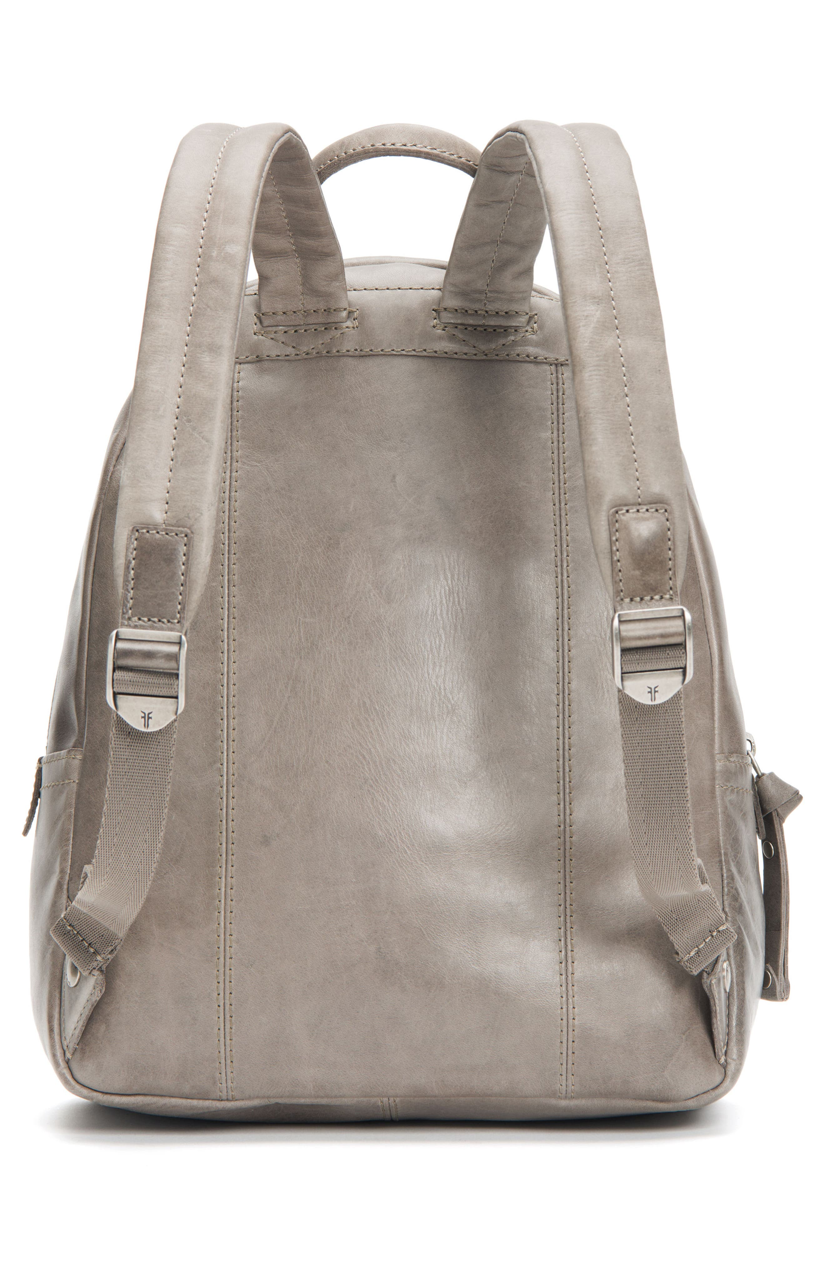 Melissa Leather Backpack,                             Alternate thumbnail 3, color,                             Ice