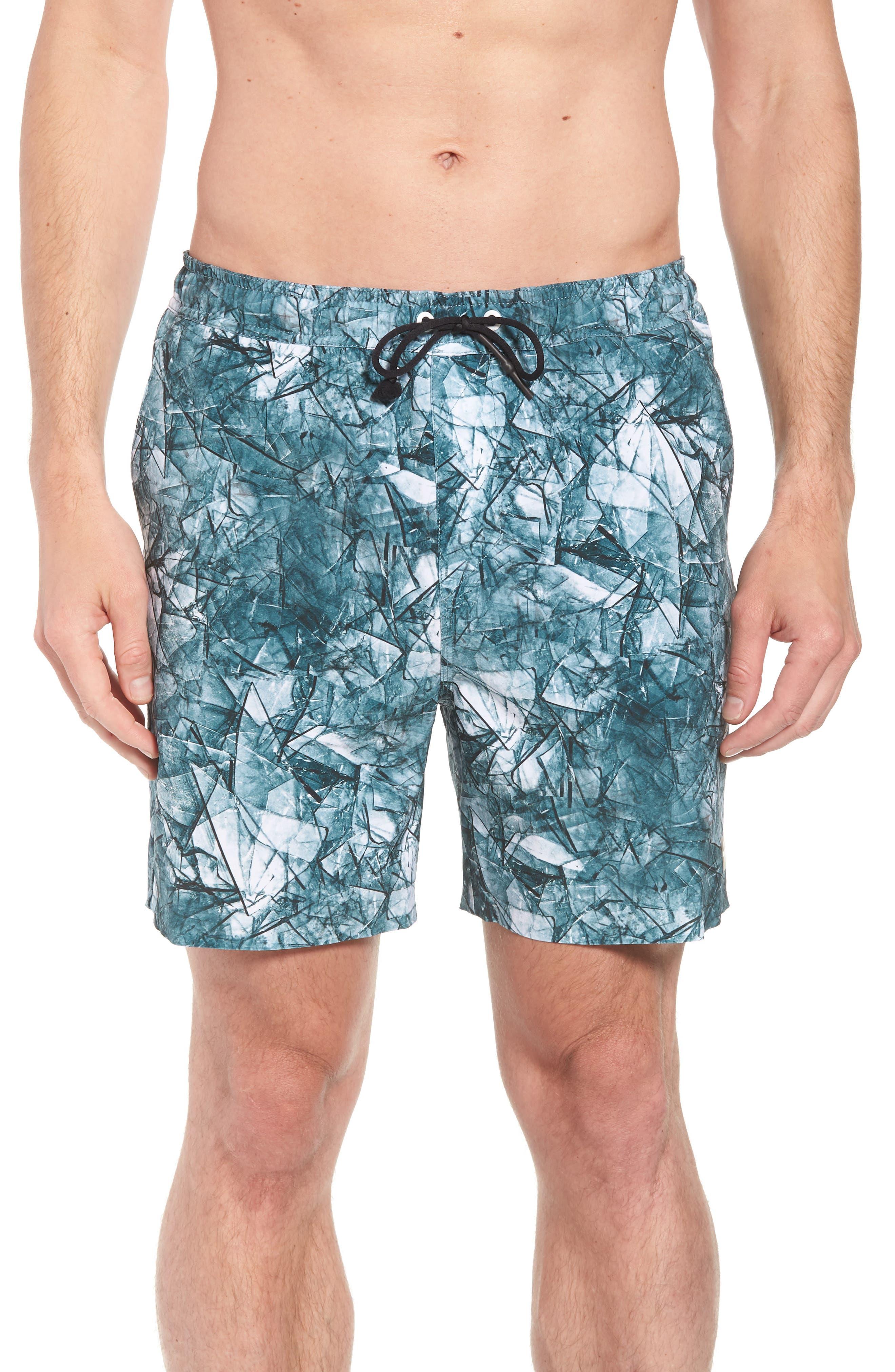 Desmond Swim Trunks,                         Main,                         color, Shattered Blue