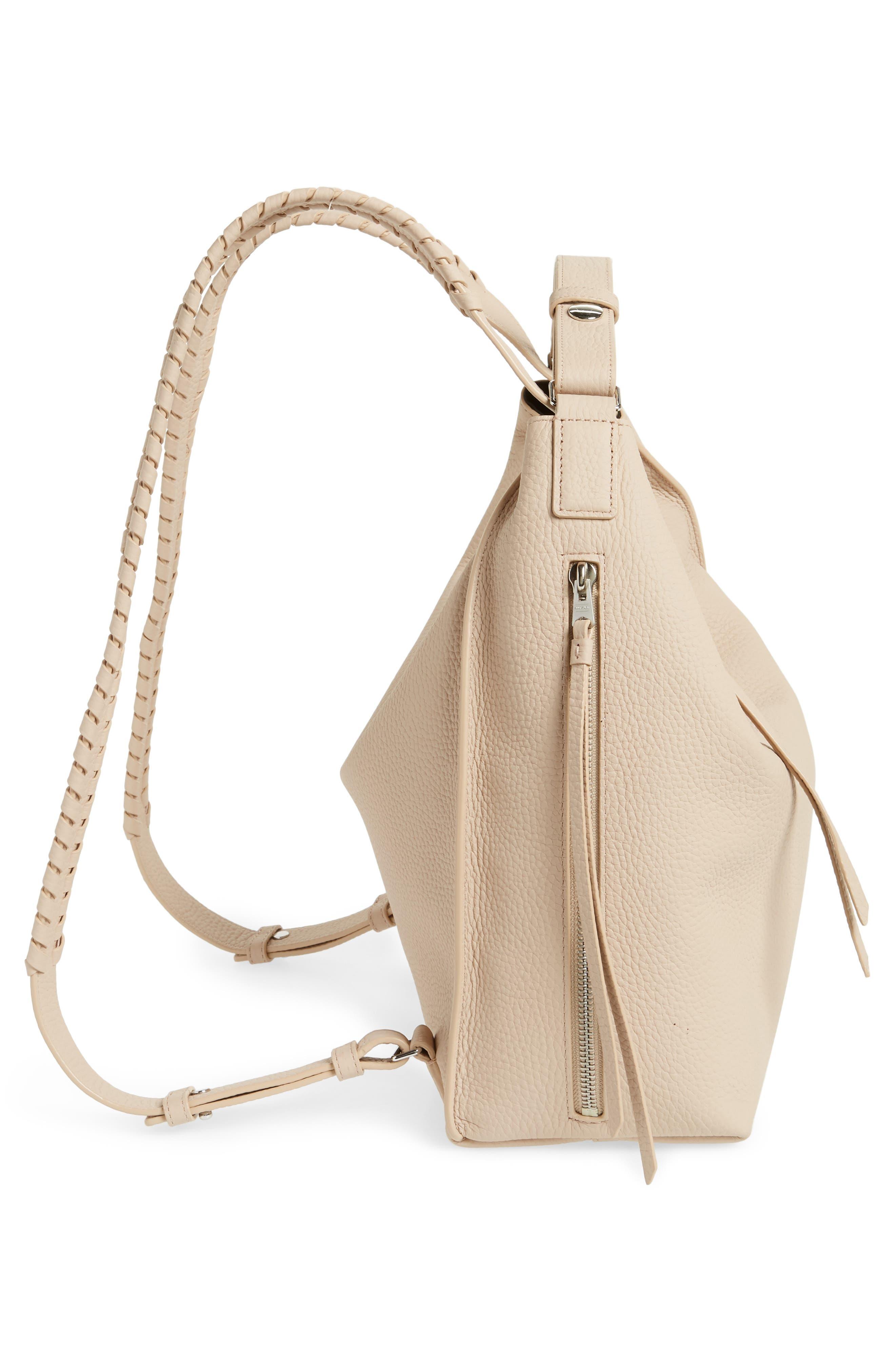 Small Kita Convertible Leather Backpack,                             Alternate thumbnail 5, color,                             Natural