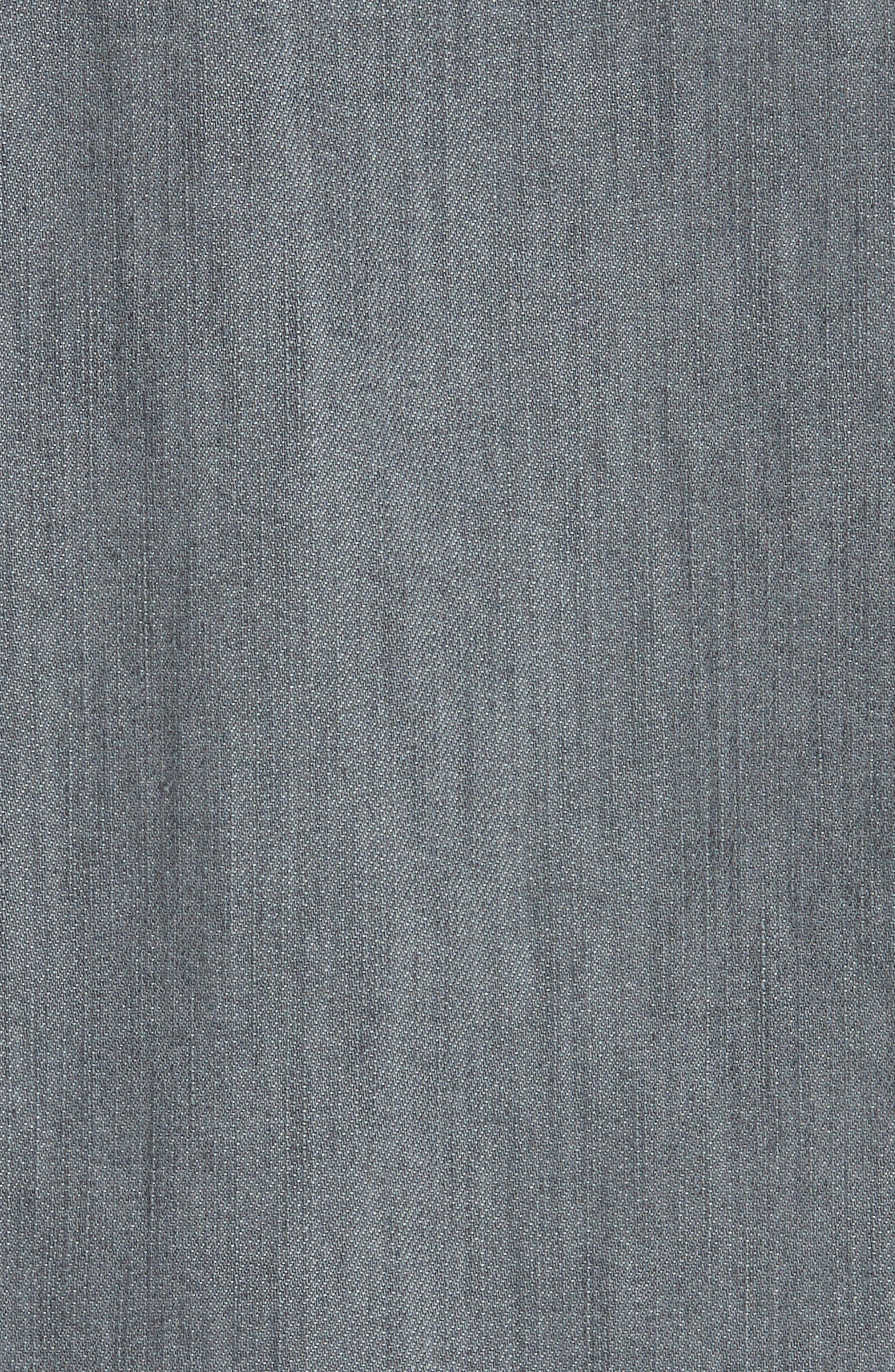 Slim Fit Denim Western Shirt,                             Alternate thumbnail 5, color,                             Grey