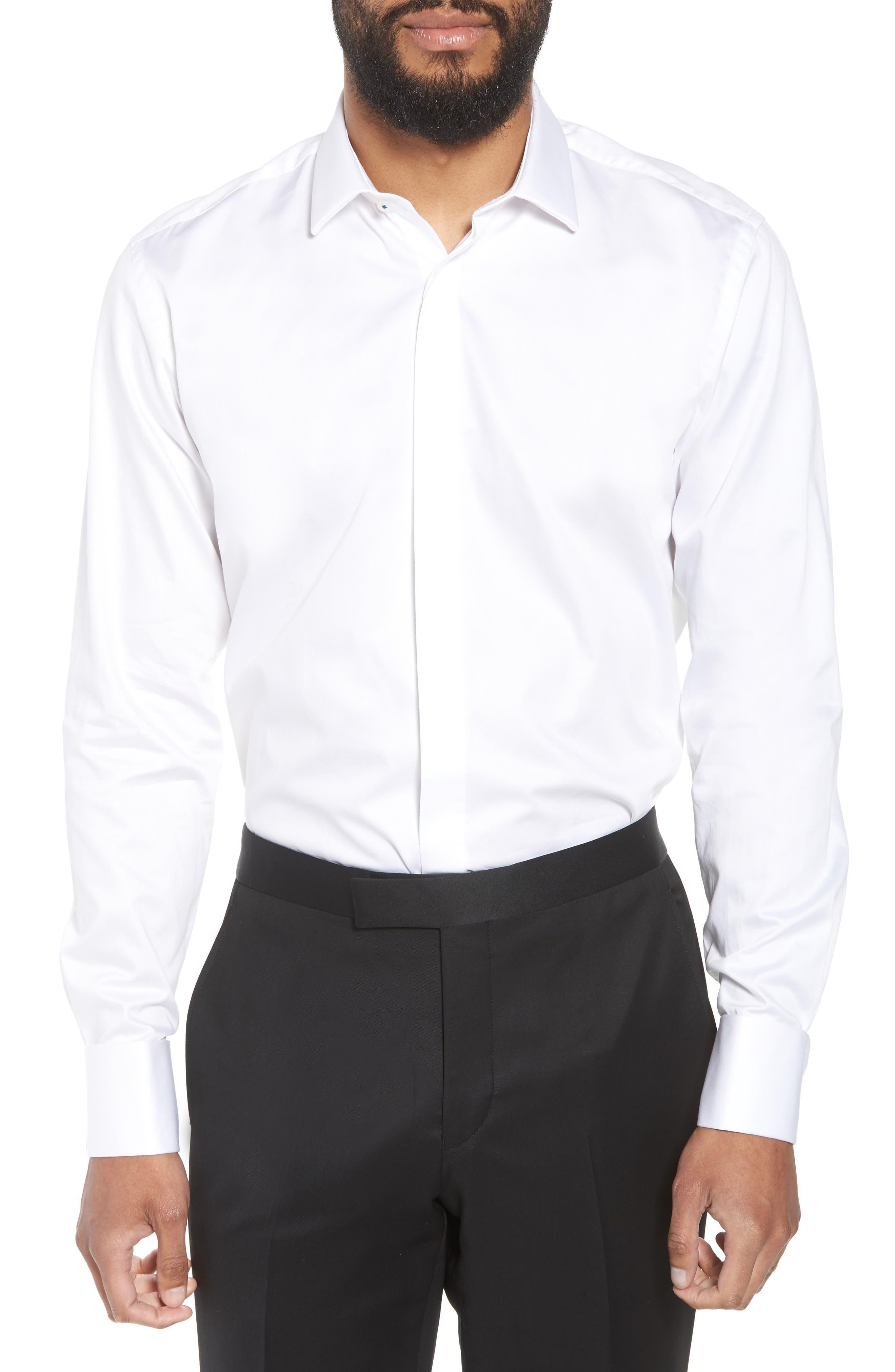 Ted Baker London Fedra Trim Fit Tuxedo Shirt
