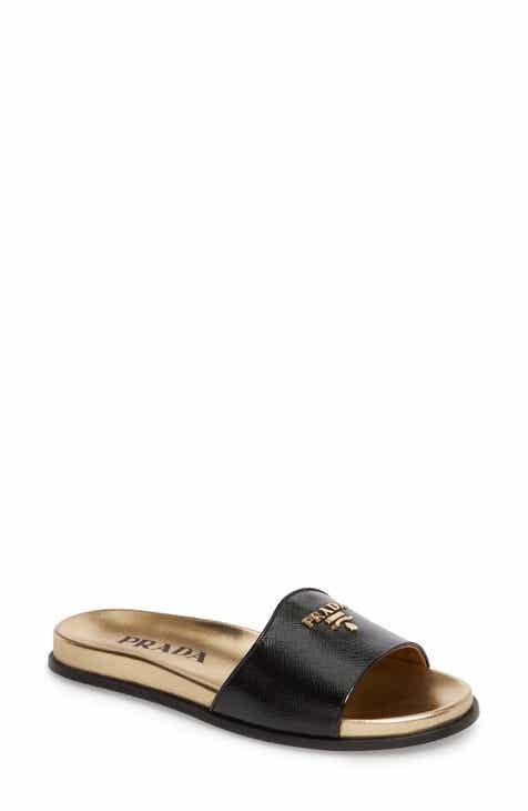 Women s Prada Flat Heeled Sandals  661c955bd6