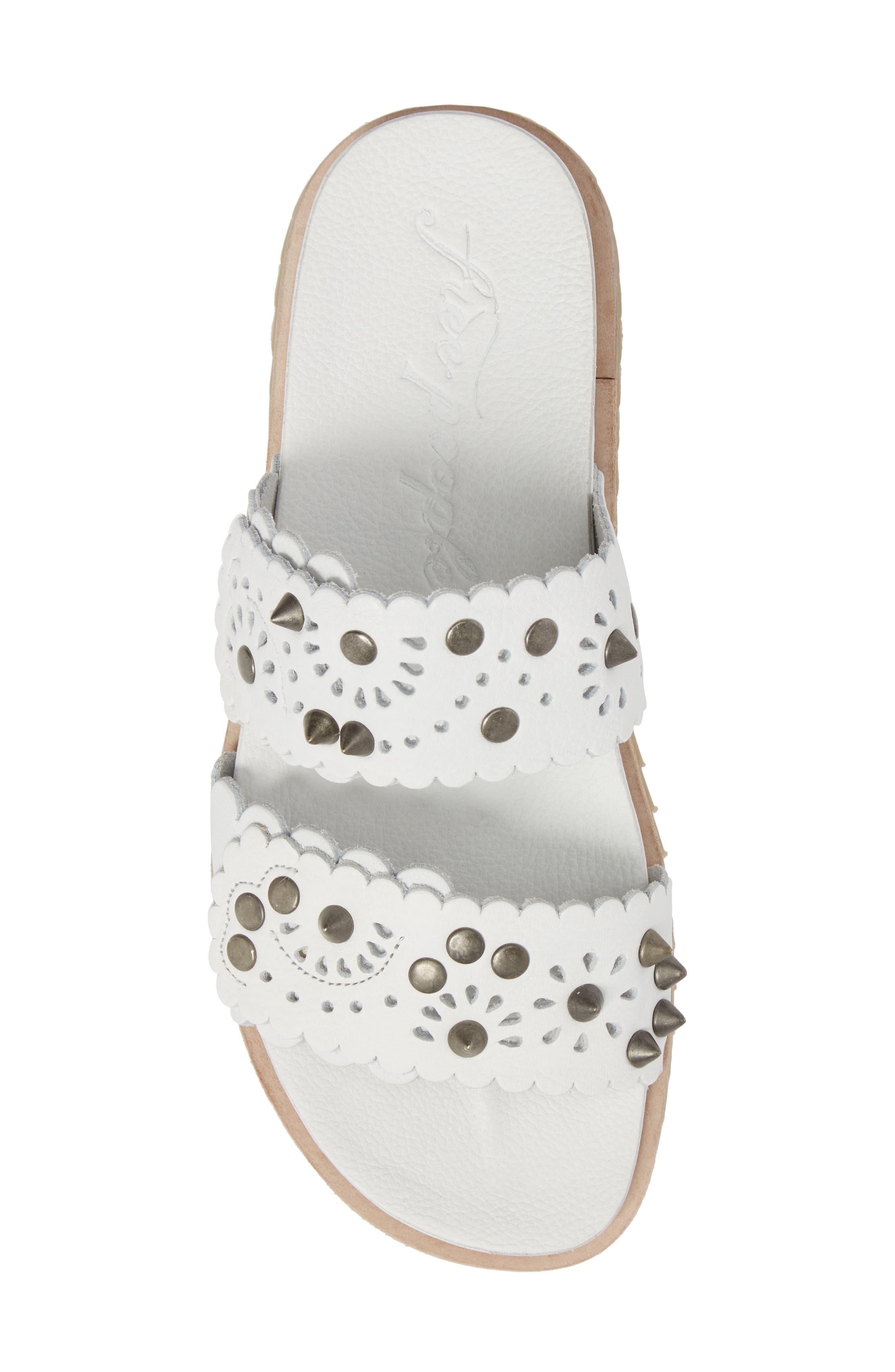 Spellbound Embellished Slide Sandal,                             Alternate thumbnail 5, color,                             White