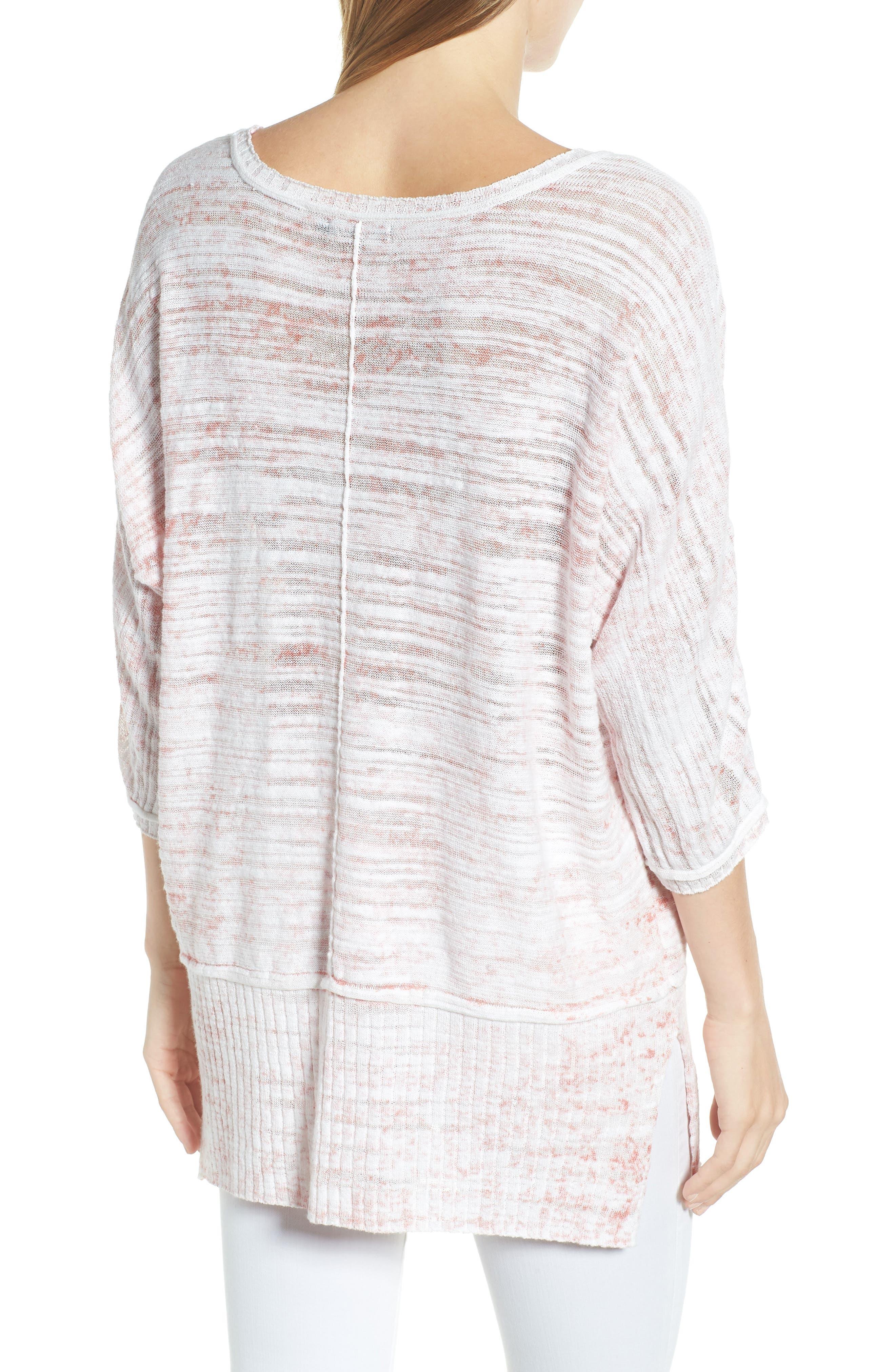 Open Breeze Linen Cotton Blend Sweater,                             Alternate thumbnail 2, color,                             Pink Clay