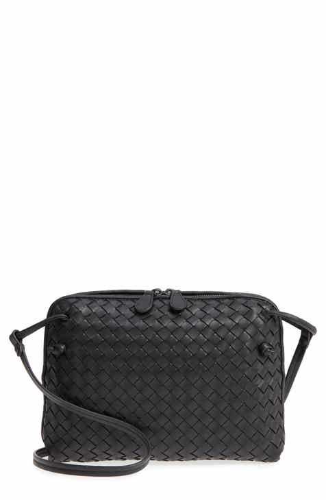 c501e0fac5a3e Bottega Veneta Nodini Woven Leather Crossbody Bag