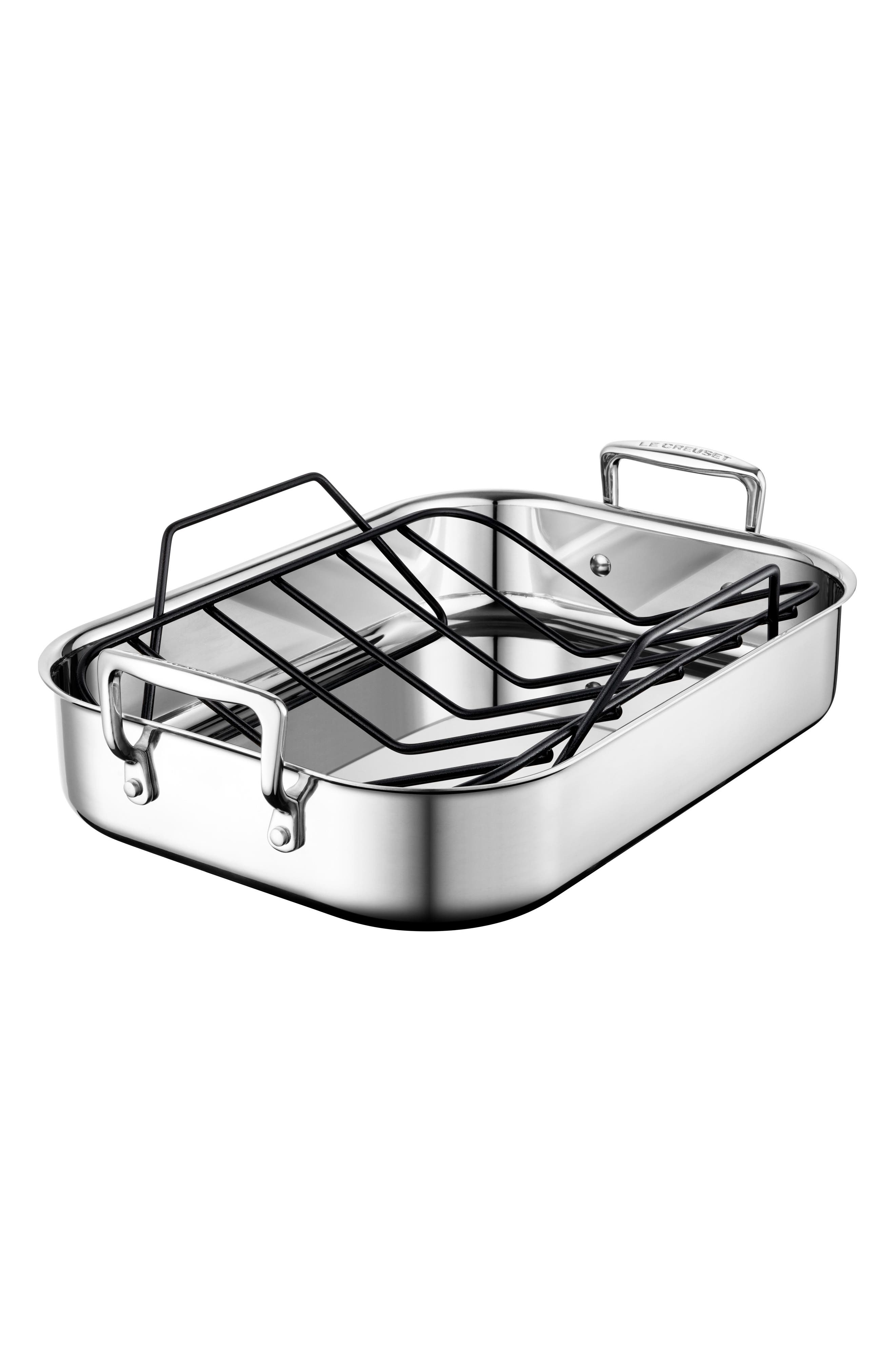 Small Roasting Pan,                             Main thumbnail 1, color,                             Stainless Steel