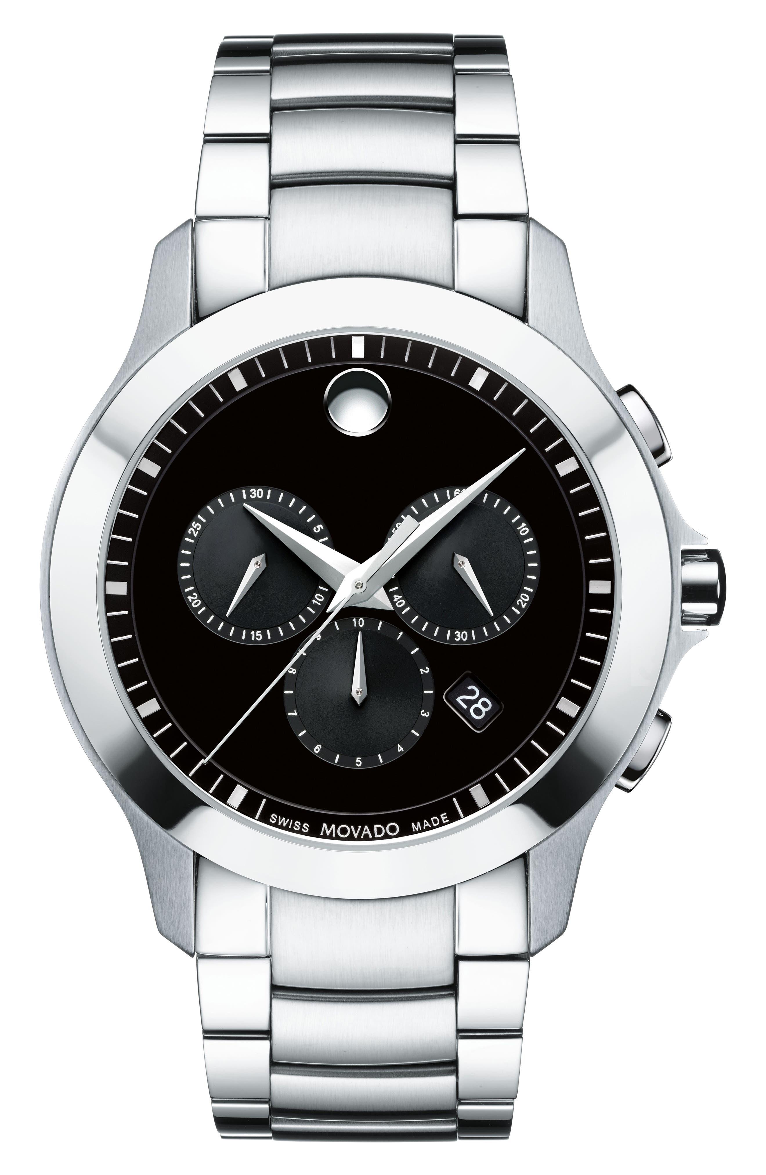 Movado Masino Chronograph Bracelet Watch, 42mm