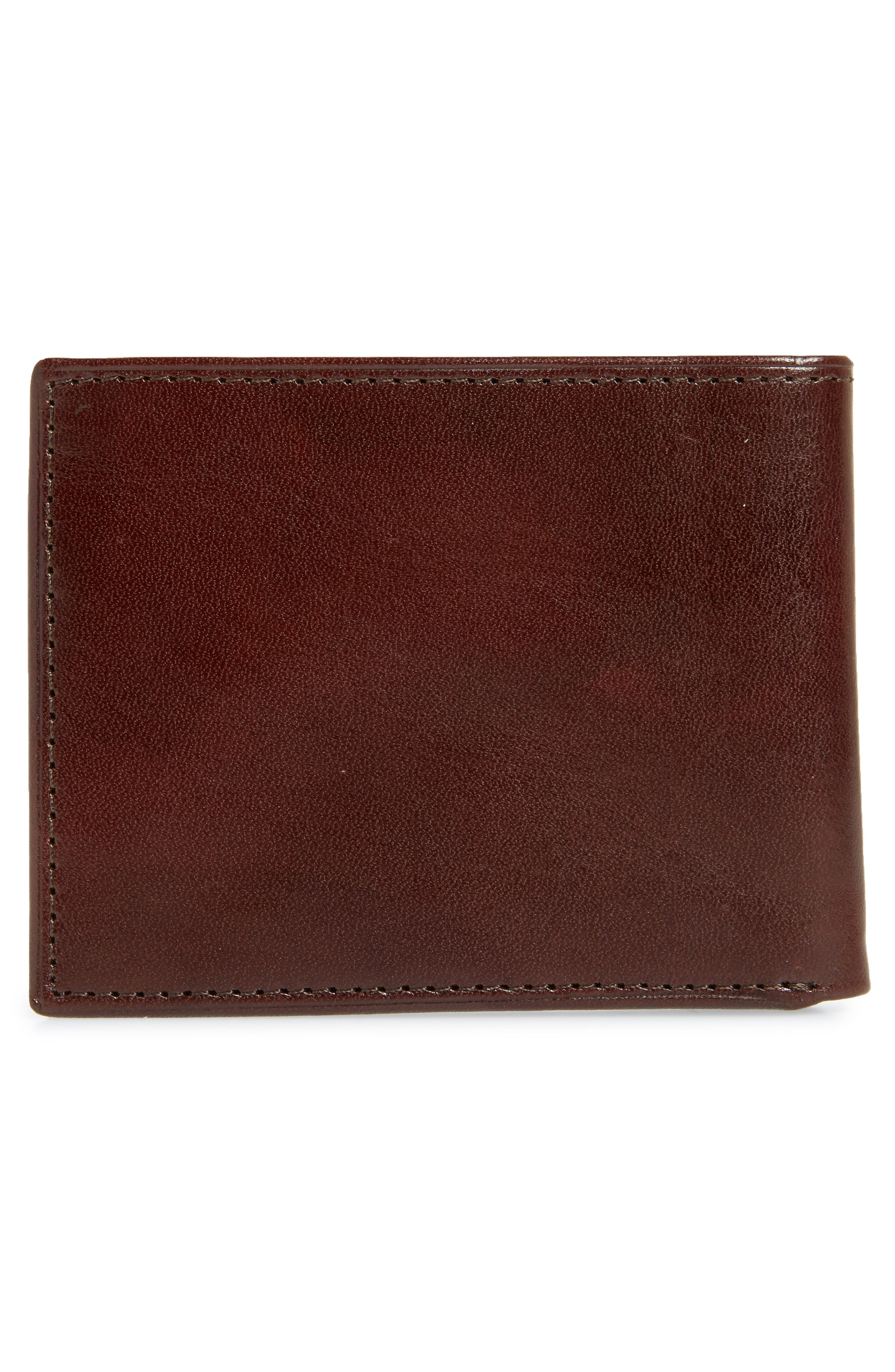 Slimfold Leather Wallet,                             Alternate thumbnail 2, color,                             Brown