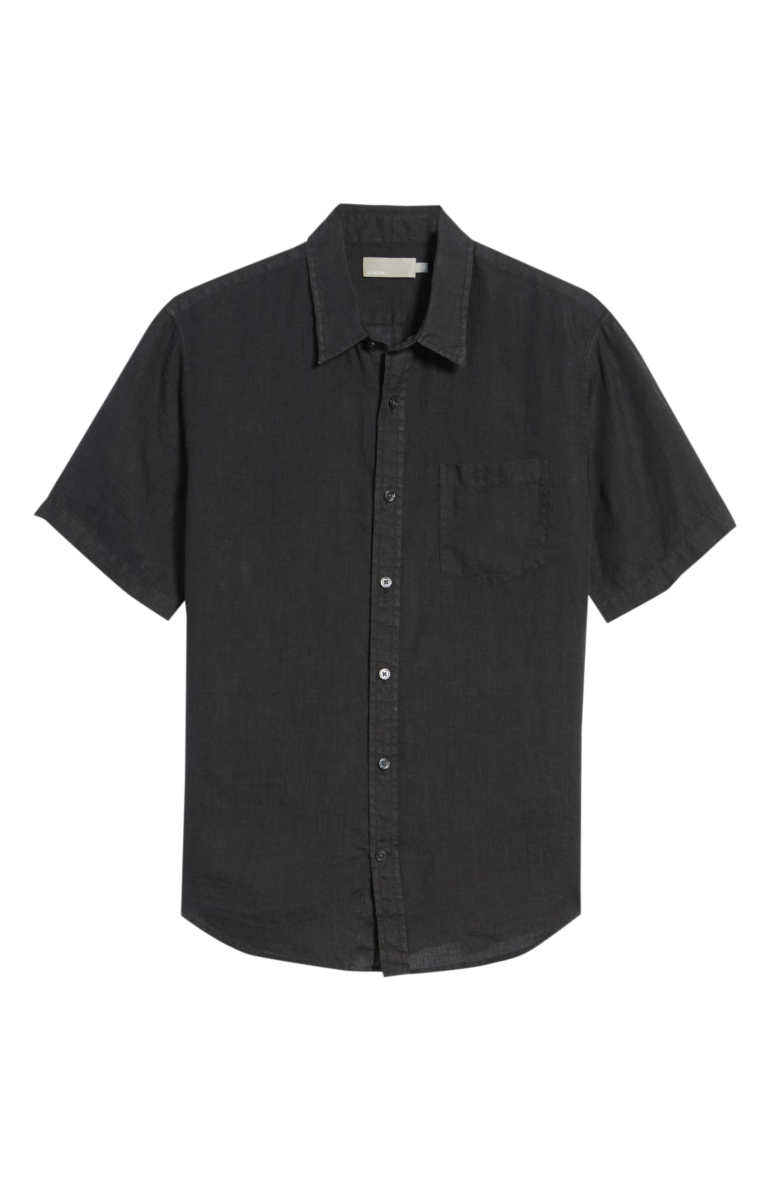 Classic Fit Sport Shirt,                             Alternate thumbnail 6, color,                             Black