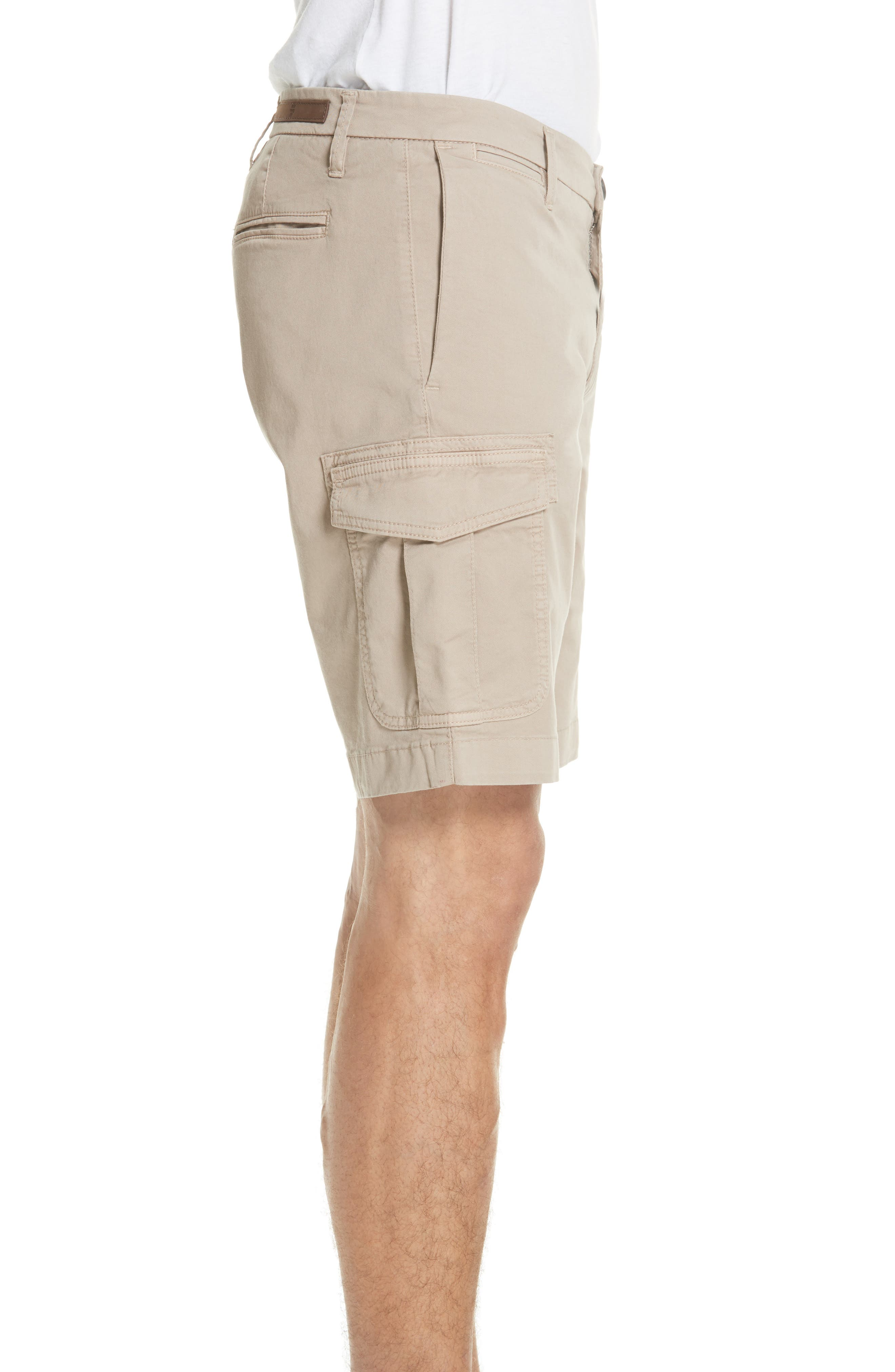 Stretch Cotton Cargo Shorts,                             Alternate thumbnail 3, color,                             Sand