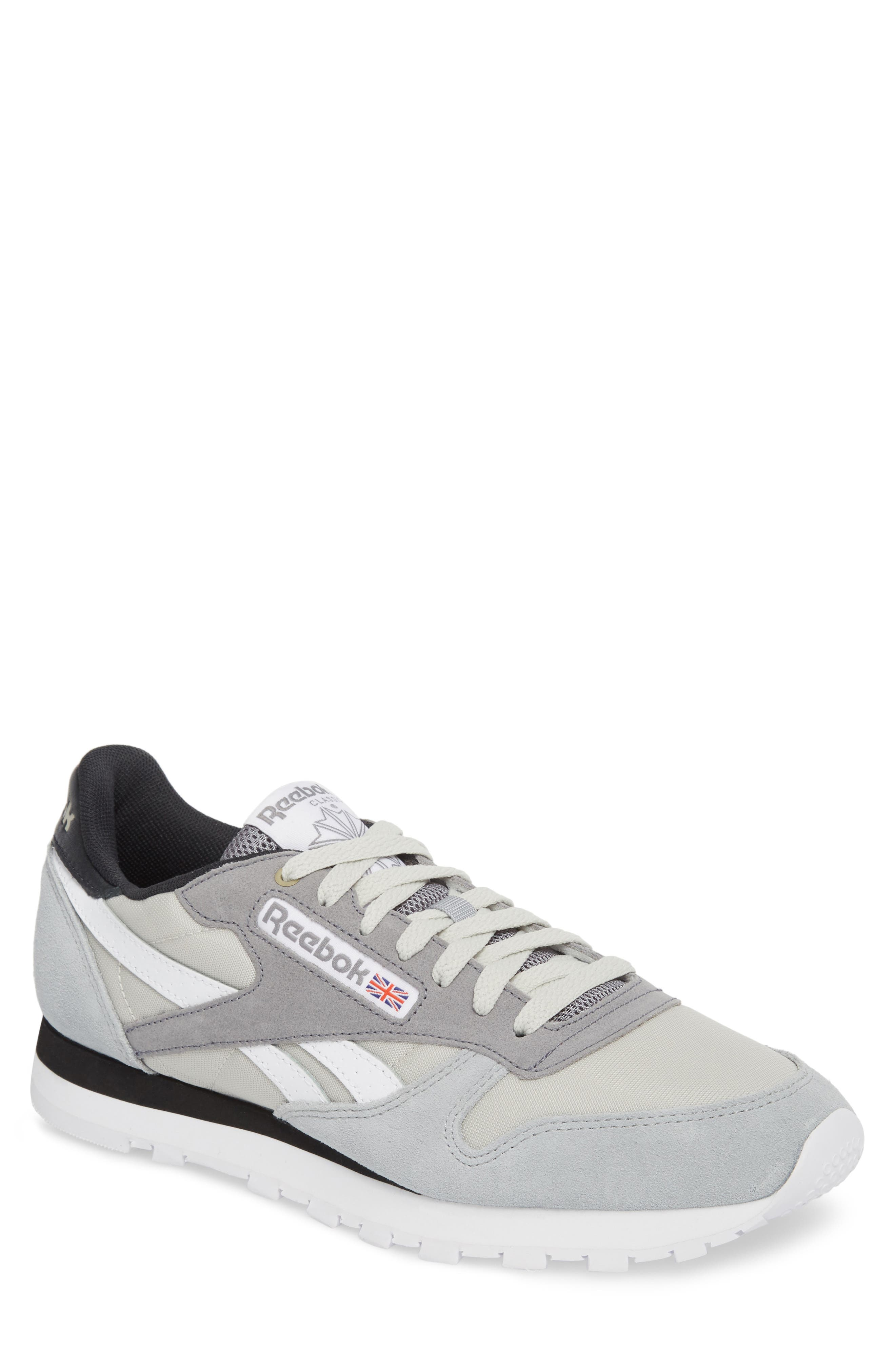 Classic Leather MCCS Sneaker,                         Main,                         color, Grey/ White