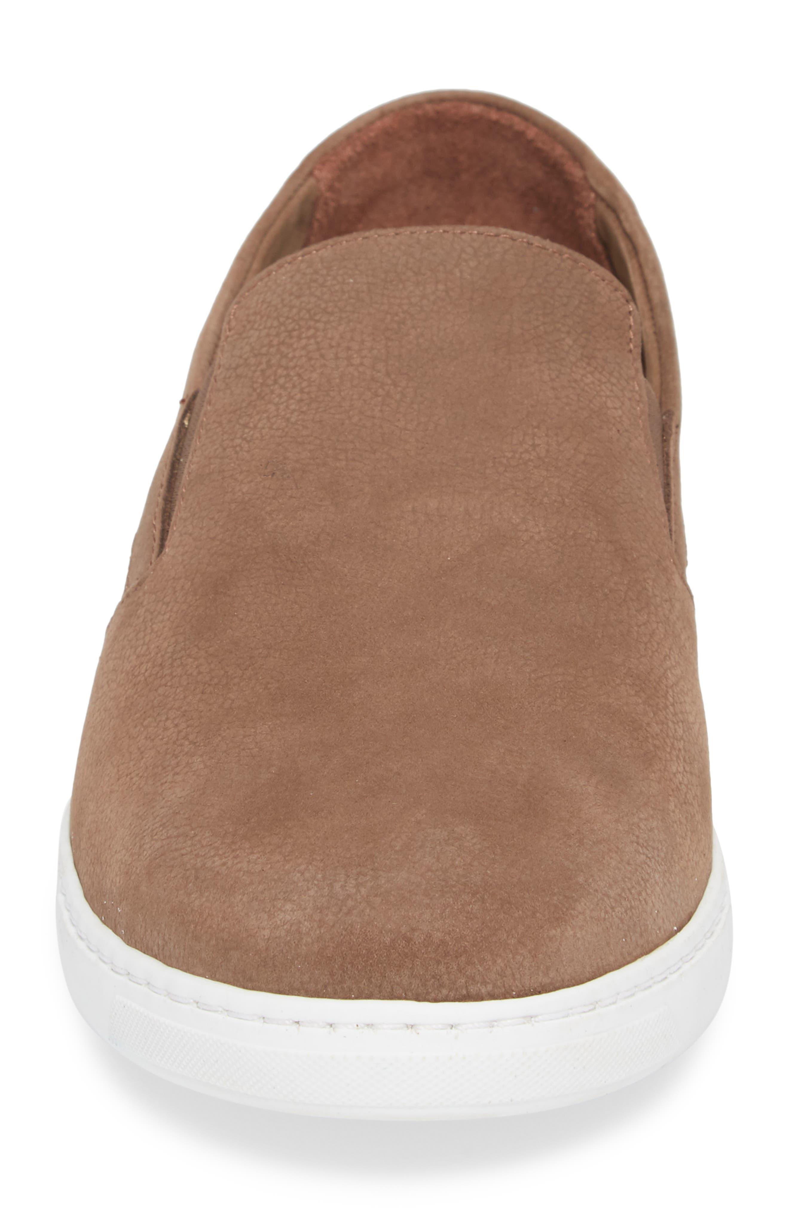 Neff Slip-On Sneaker,                             Alternate thumbnail 4, color,                             Taupe Leather