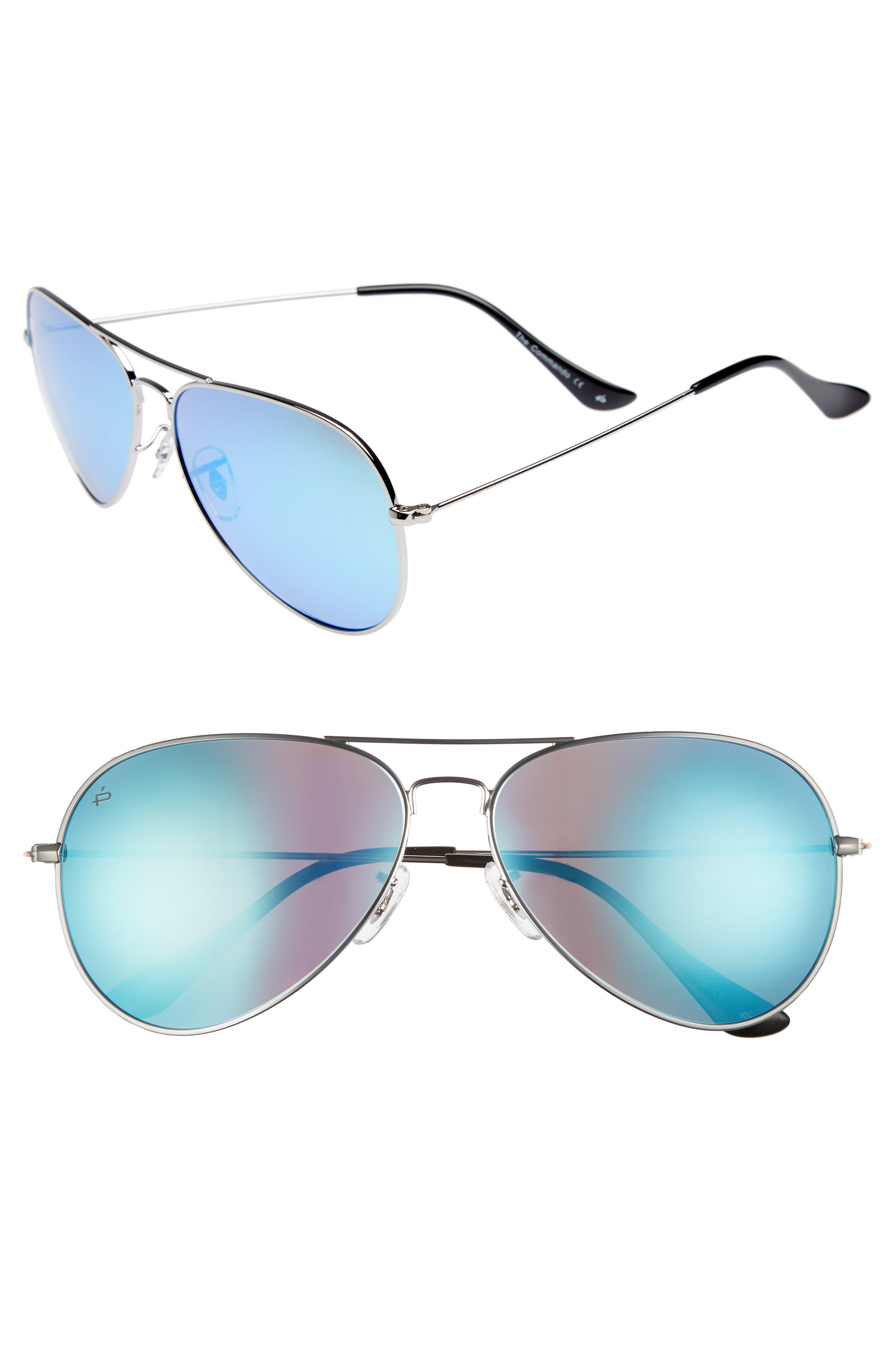 Privé Revaux The Commando 60mm Aviator Sunglasses