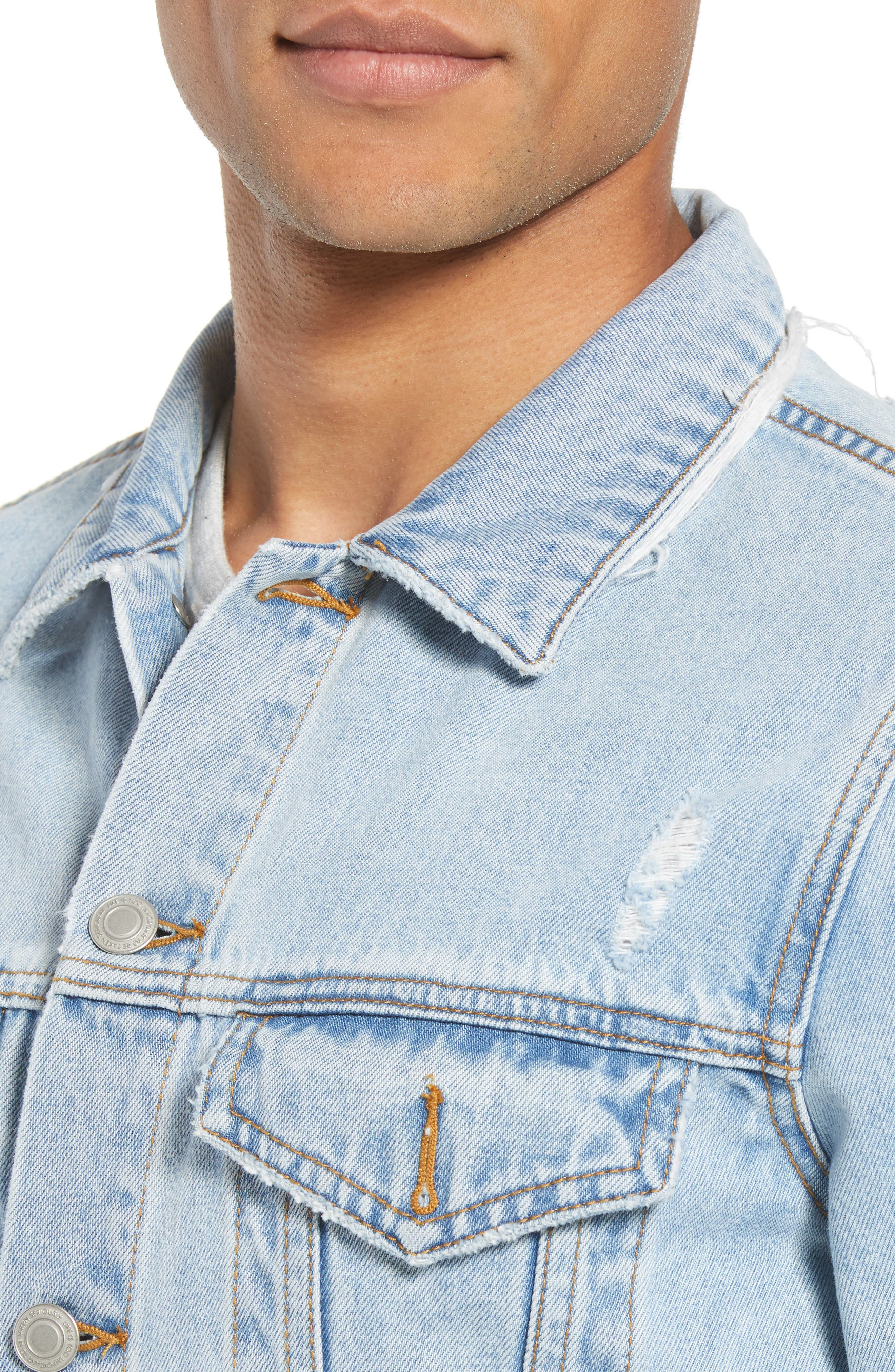 Type One Denim Jacket,                             Alternate thumbnail 4, color,                             Beaten Indigo