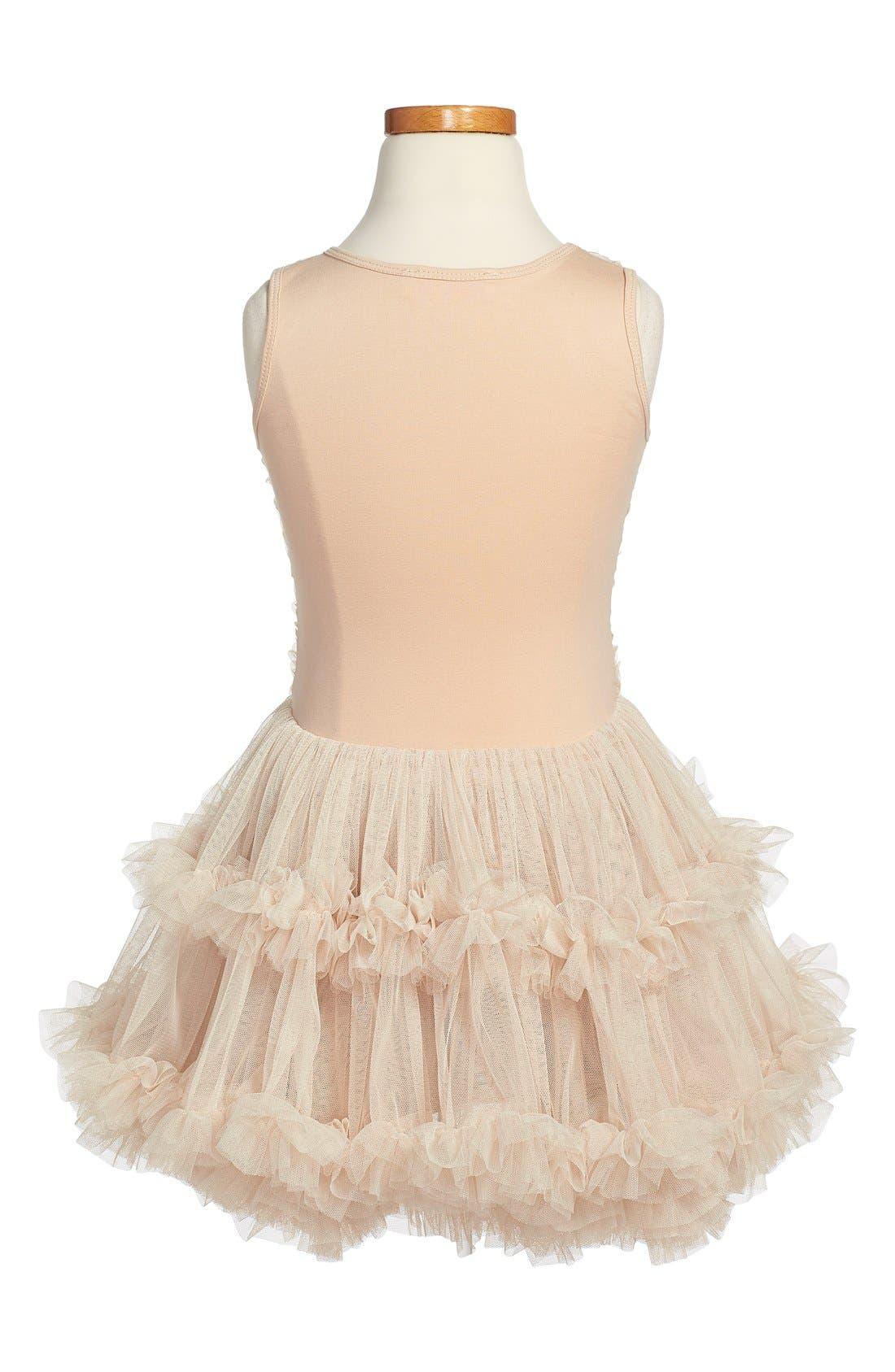 Ribbon Rosette Sleeveless Dress,                             Alternate thumbnail 2, color,                             Ivory