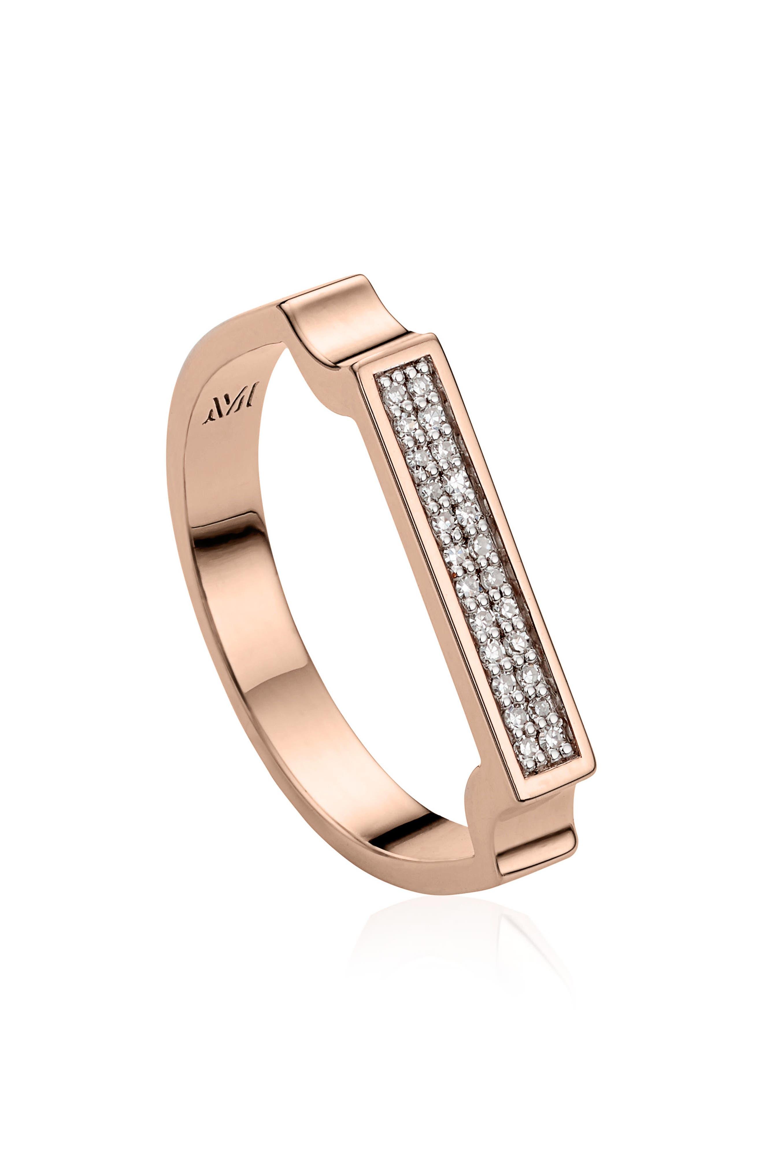 Monica Vinader Diamond Signature Ring