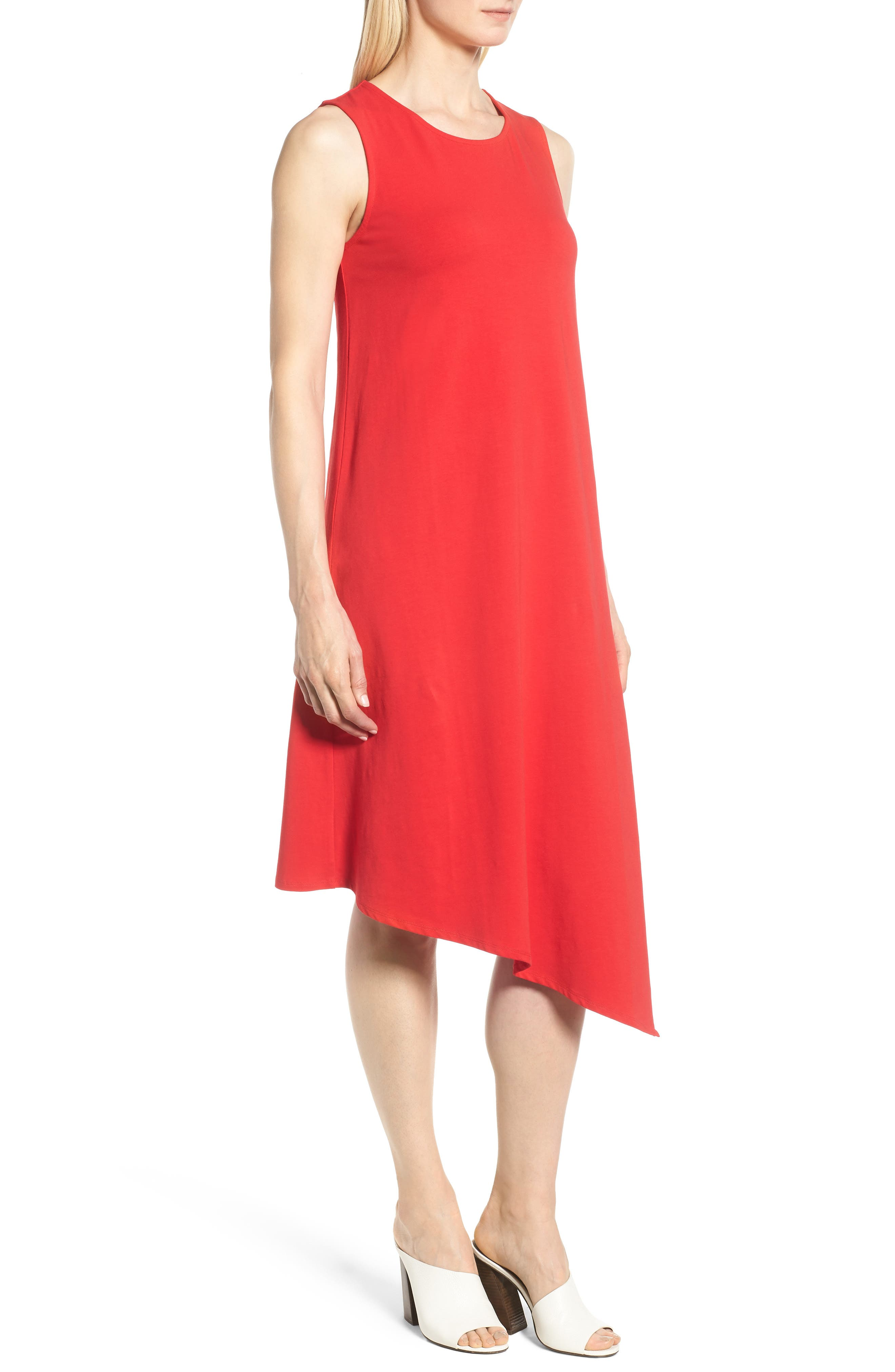 Sweet Escape Tank Dress,                             Alternate thumbnail 3, color,                             Red Sangria